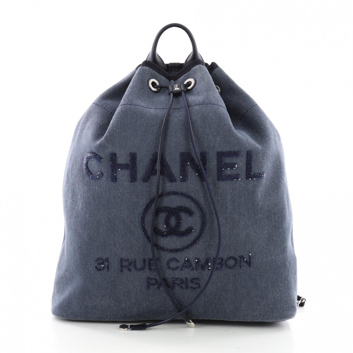 Harga Jual Chanel Deauville Terbaru 2018 Autofriend Garnish Pelindung Ai 3232 Honda Hrv H Rv 2014 2015 2016 On Foglamp Cover Lyst Pre Owned Backpack In Blue View Fullscreen