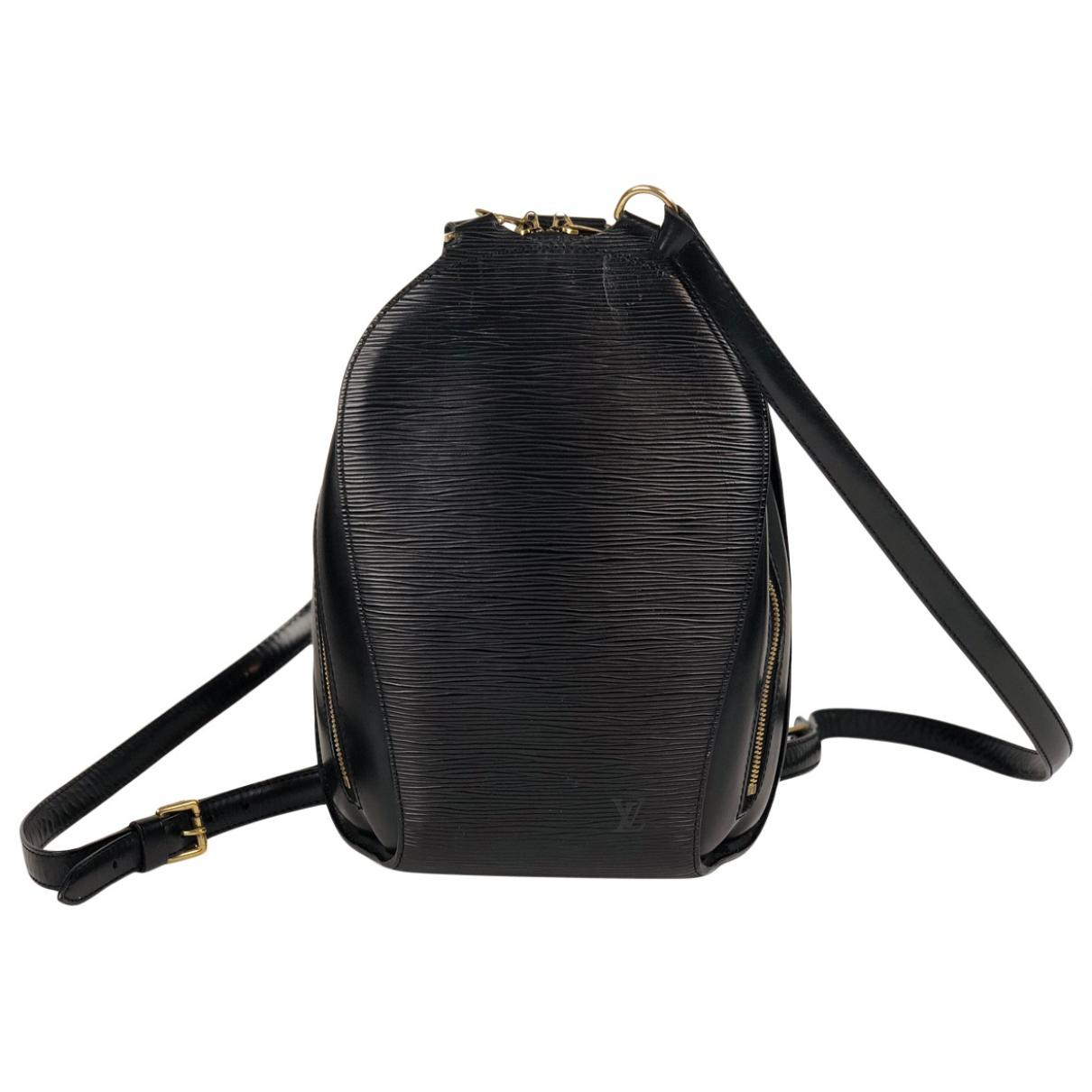 992b82923ab Lyst louis vuitton pre owned leather backpack in black jpg 1210x1210 Black  louis vuitton backpack