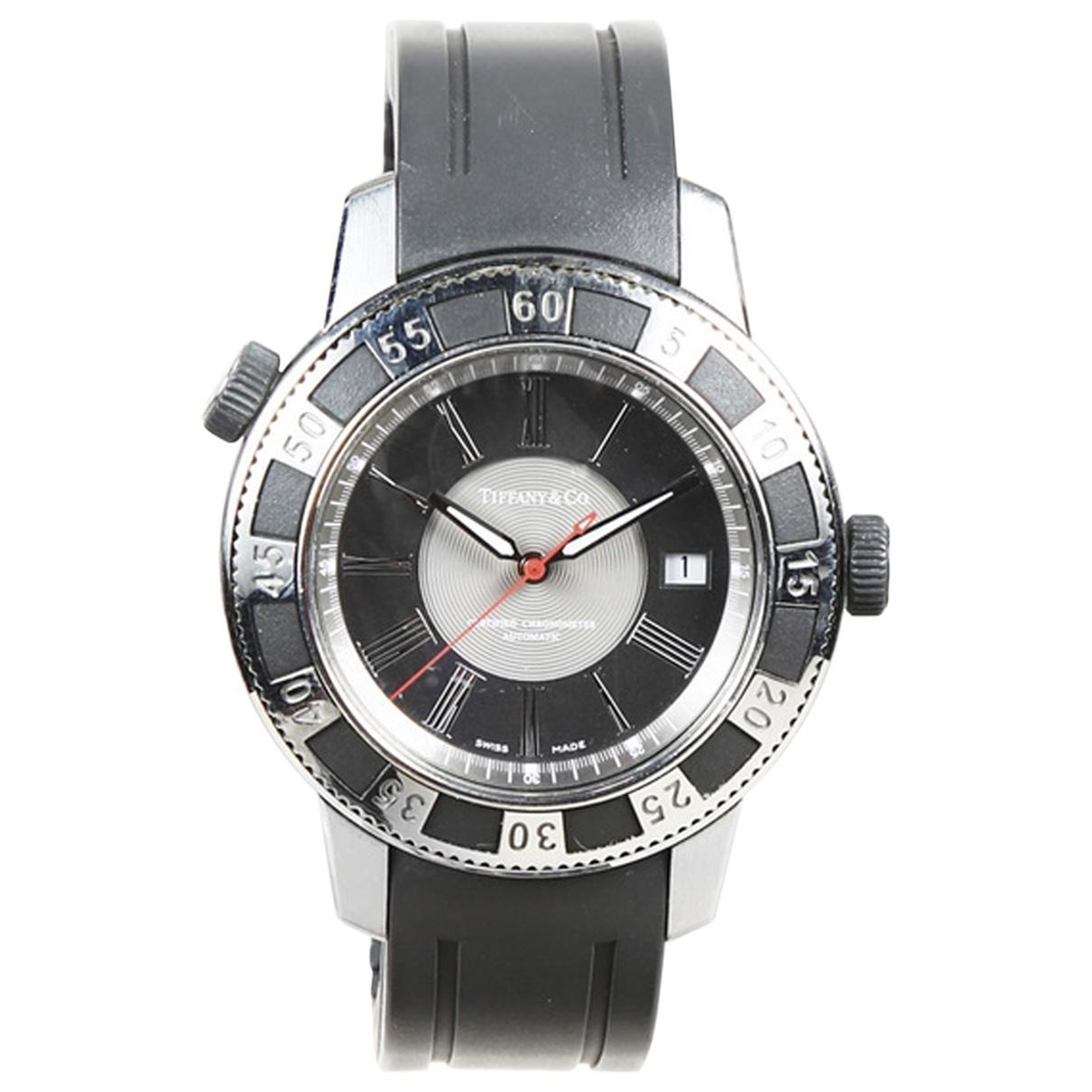 3da8b0f3c4b57 Lyst - Tiffany & Co. Pre-owned Silver Steel Watches in Metallic for Men
