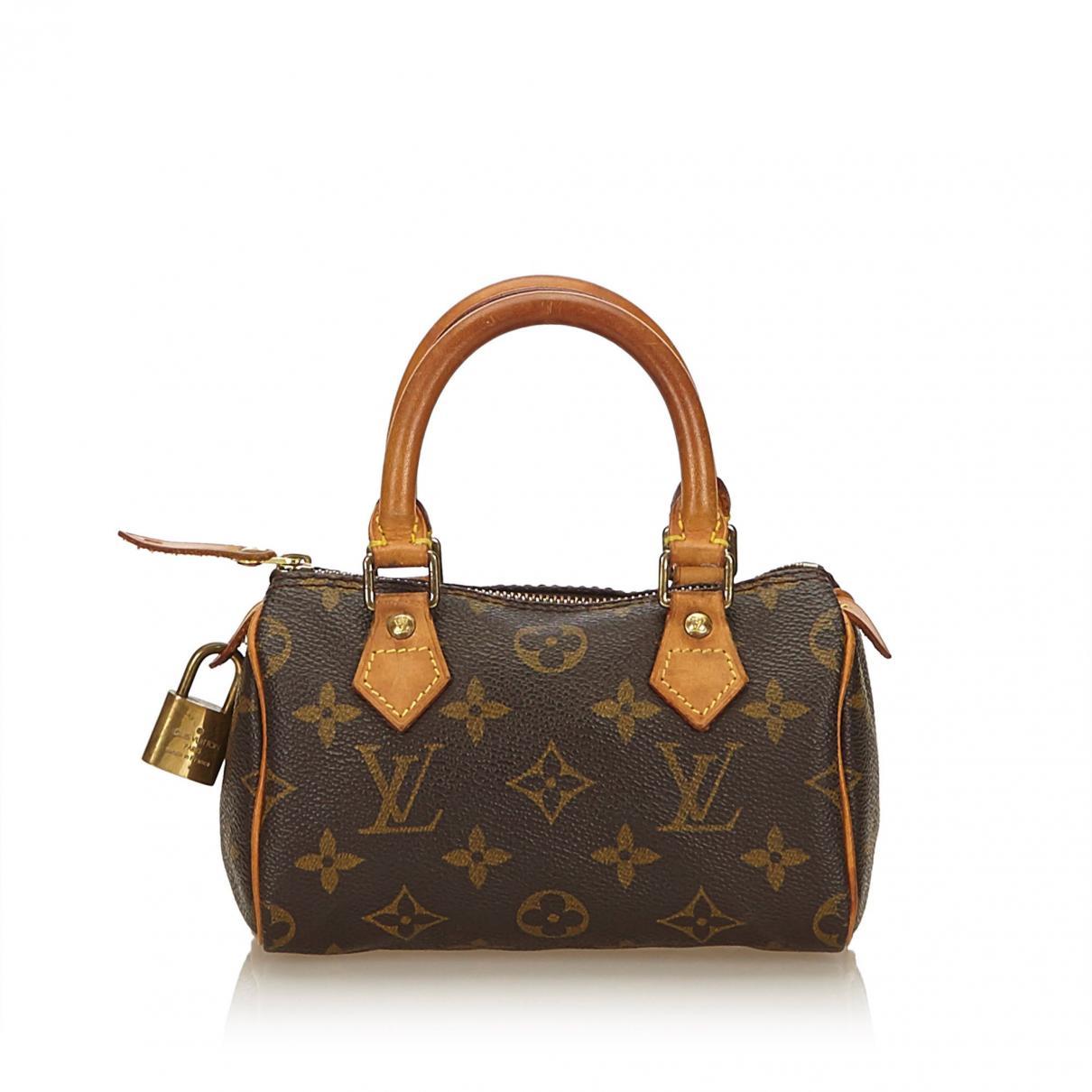 a4f89868a952f Louis Vuitton Pre-owned Nano Speedy / Mini Hl Brown Cloth Handbag in ...