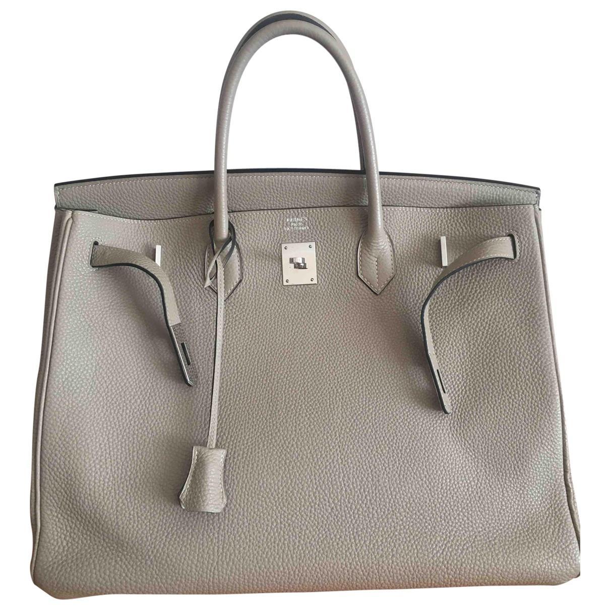 c1fb7ca0c7 Lyst - Hermès Birkin 40 Leather Handbag in Natural