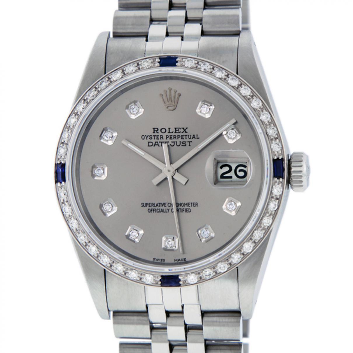 18fe5ca3e5f Lyst - Rolex Datejust 36mm Watch in Gray