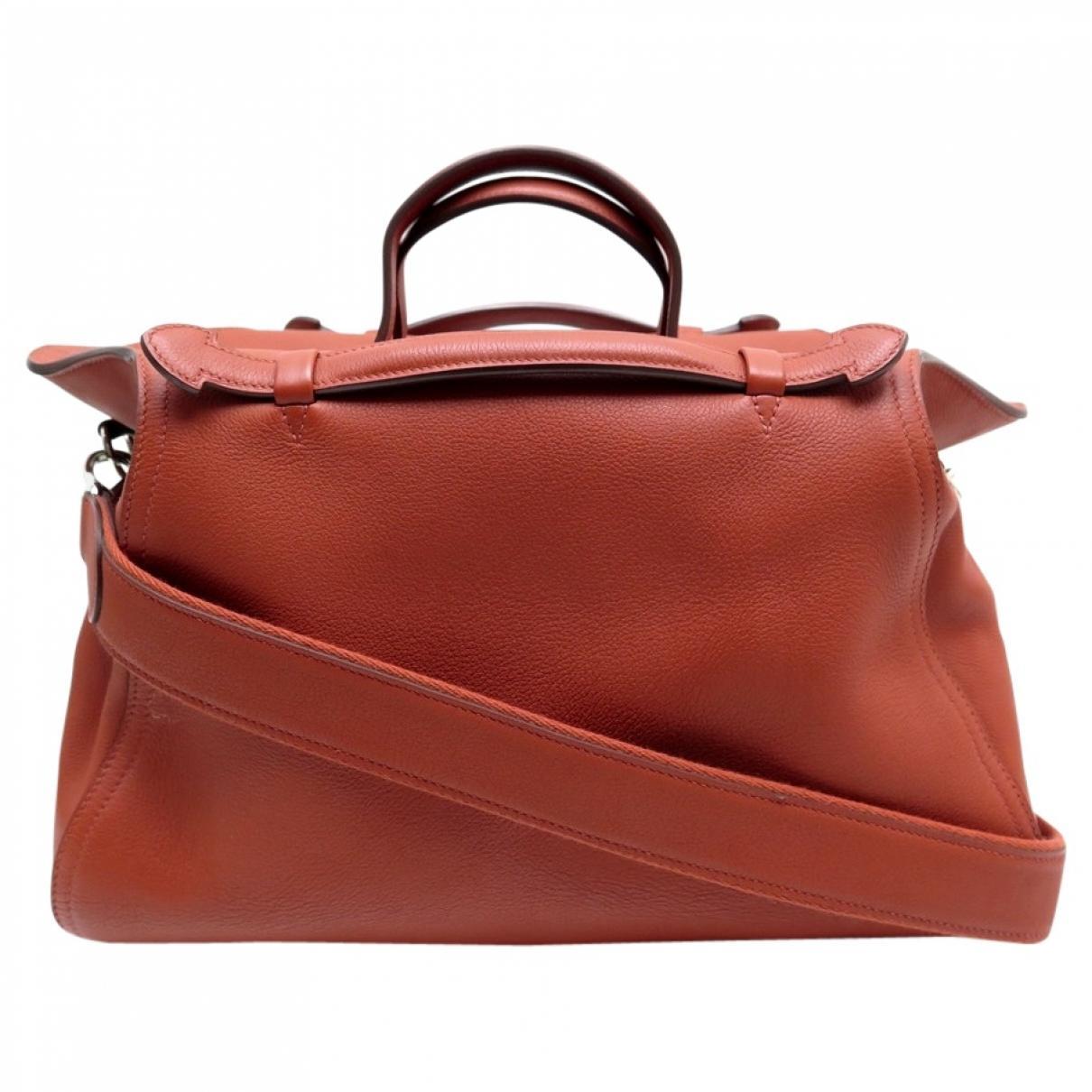 Hermès Oxer Orange Leather Handbag in Orange - Lyst 1293886ecbf19