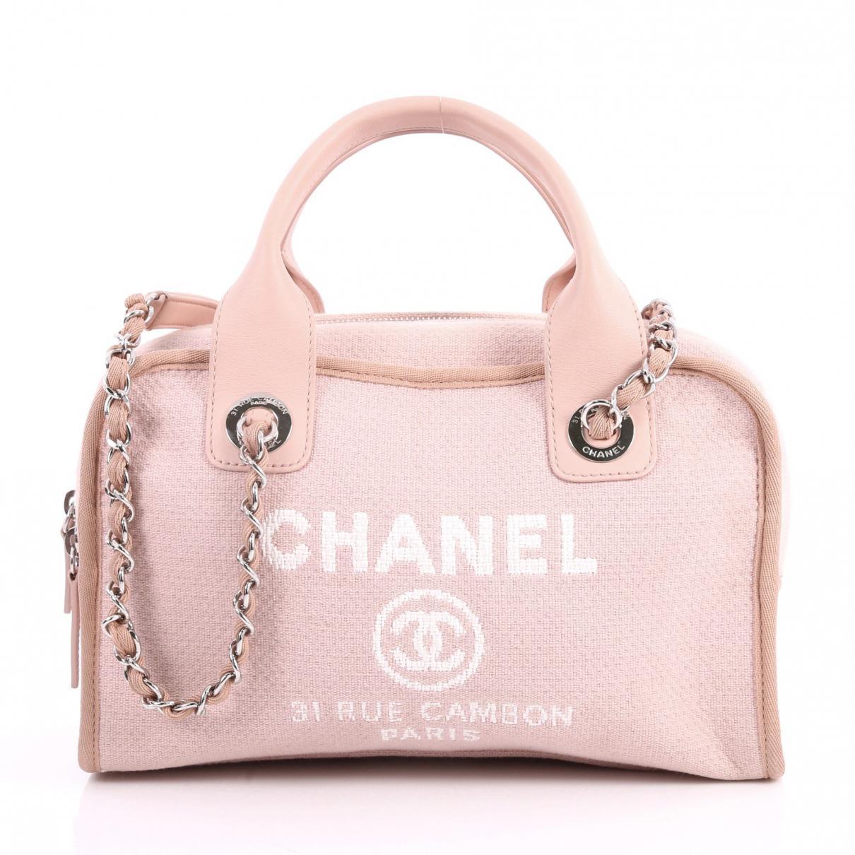 Harga Jual Chanel Deauville Terbaru 2018 Klakson Denso Waterproof Relaykabelsekring Cloth Handbag In Pink Lyst