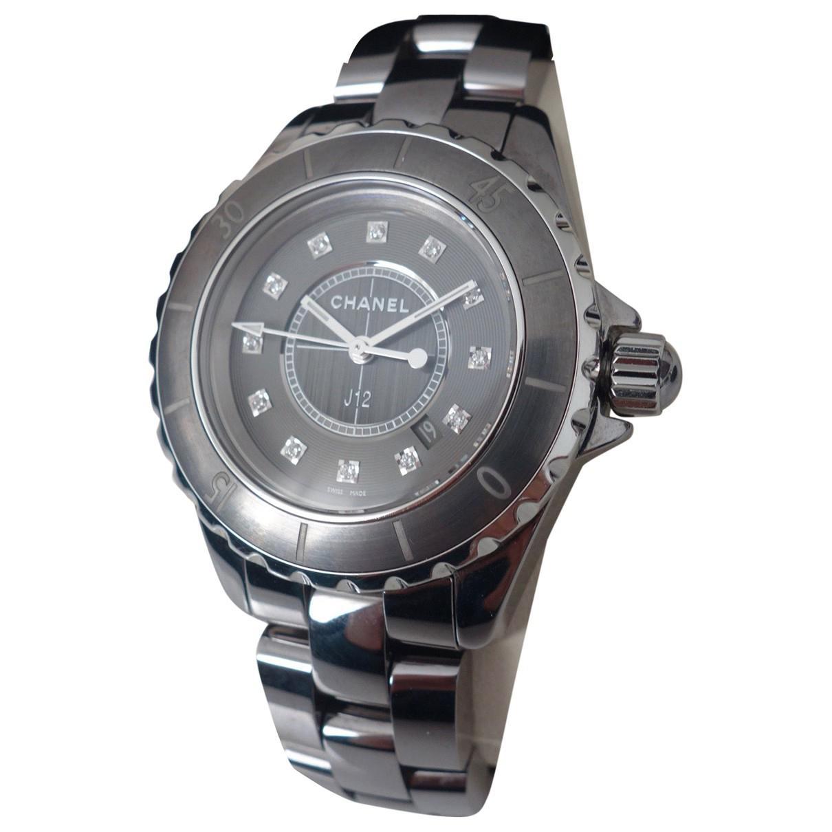 4b9bca3f23128 Chanel J12 Quartz Ceramic Watch in Gray for Men - Lyst