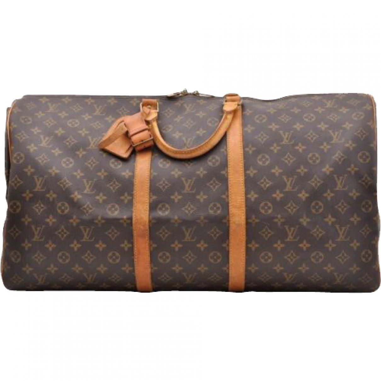 3b35814d94eb Lyst - Louis Vuitton Keepall Cloth Travel Bag in Brown - Save ...