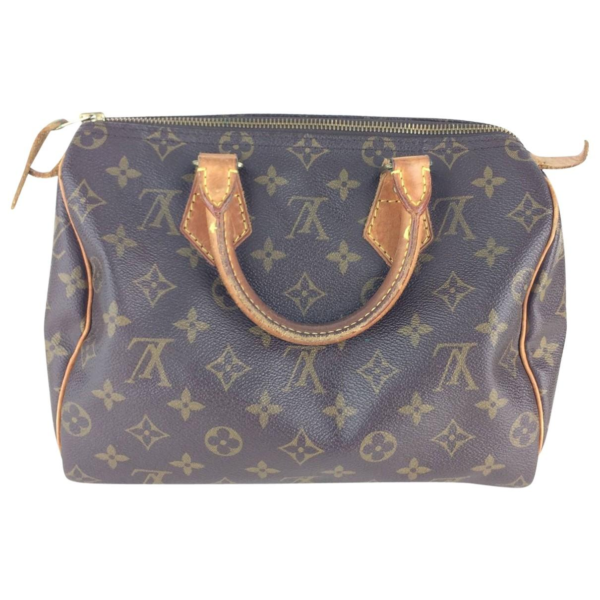 bd6a8401 Louis Vuitton Pre-owned Vintage Speedy Brown Cloth Handbag in Brown ...