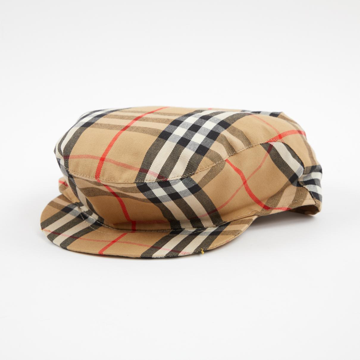 60929a23e8d Lyst - Burberry Pre-owned Multicolour Cotton Hats