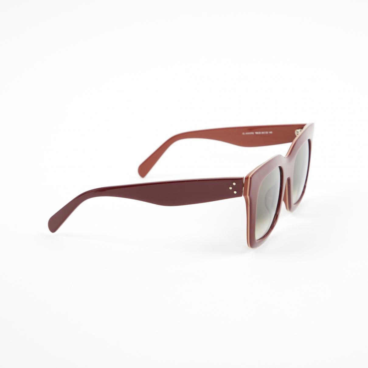 787c53032ecec ... Burgundy Plastic Sunglasses - Lyst. View fullscreen