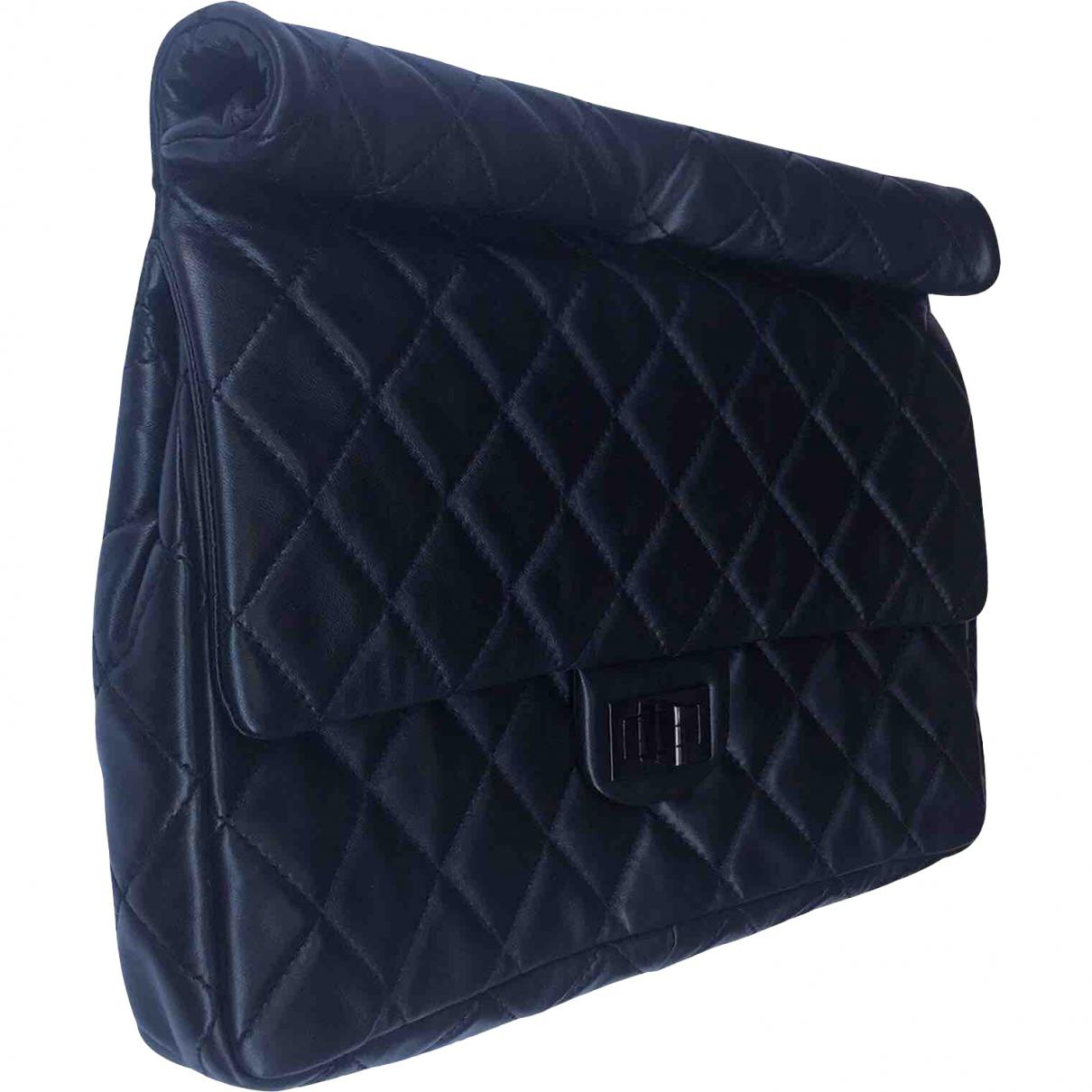 a638909d1d2e Chanel Pre-owned 2.55 Leather Clutch Bag in Black - Lyst