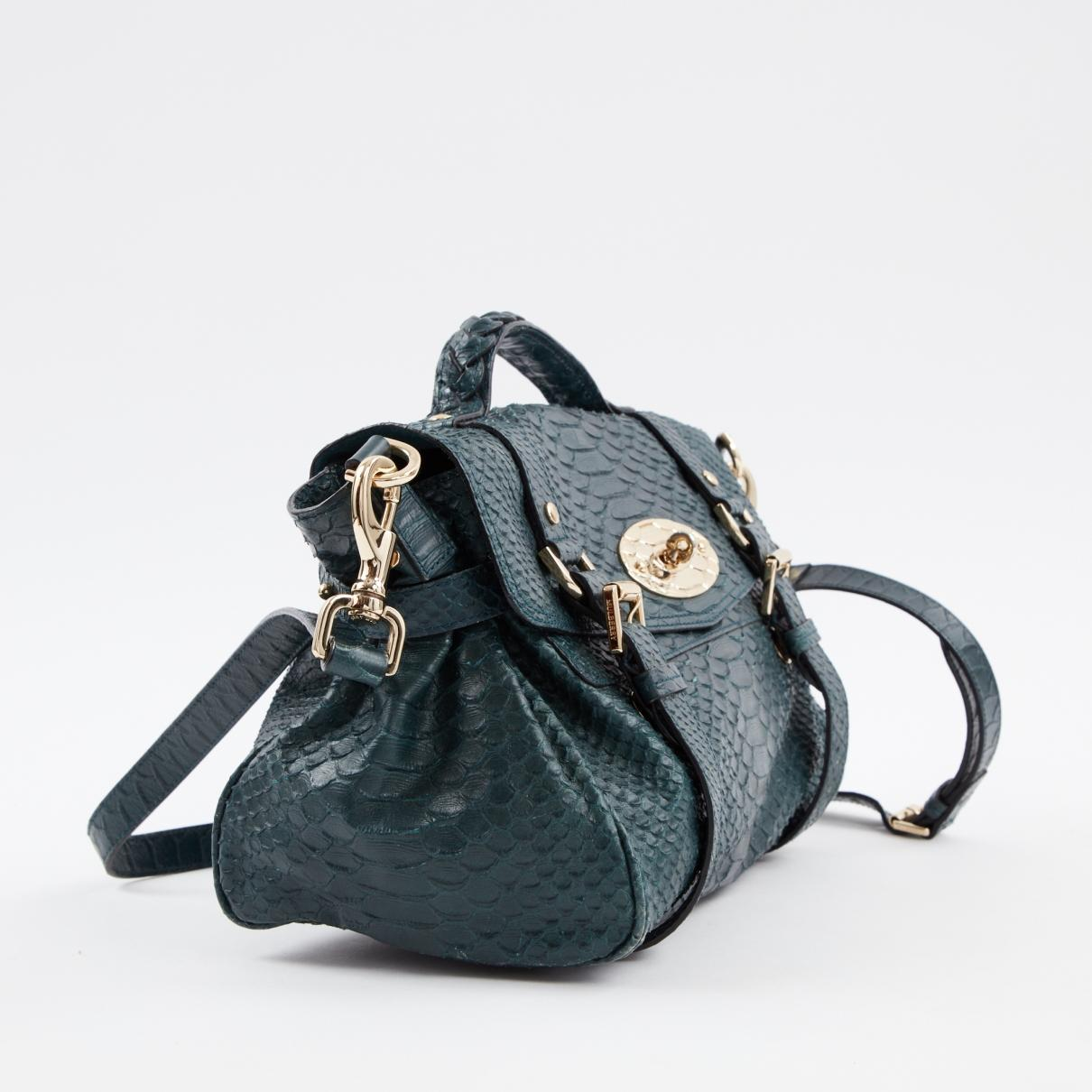 80029817c0e3 Mulberry - Pre-owned Alexa Green Leather Handbags - Lyst. View fullscreen