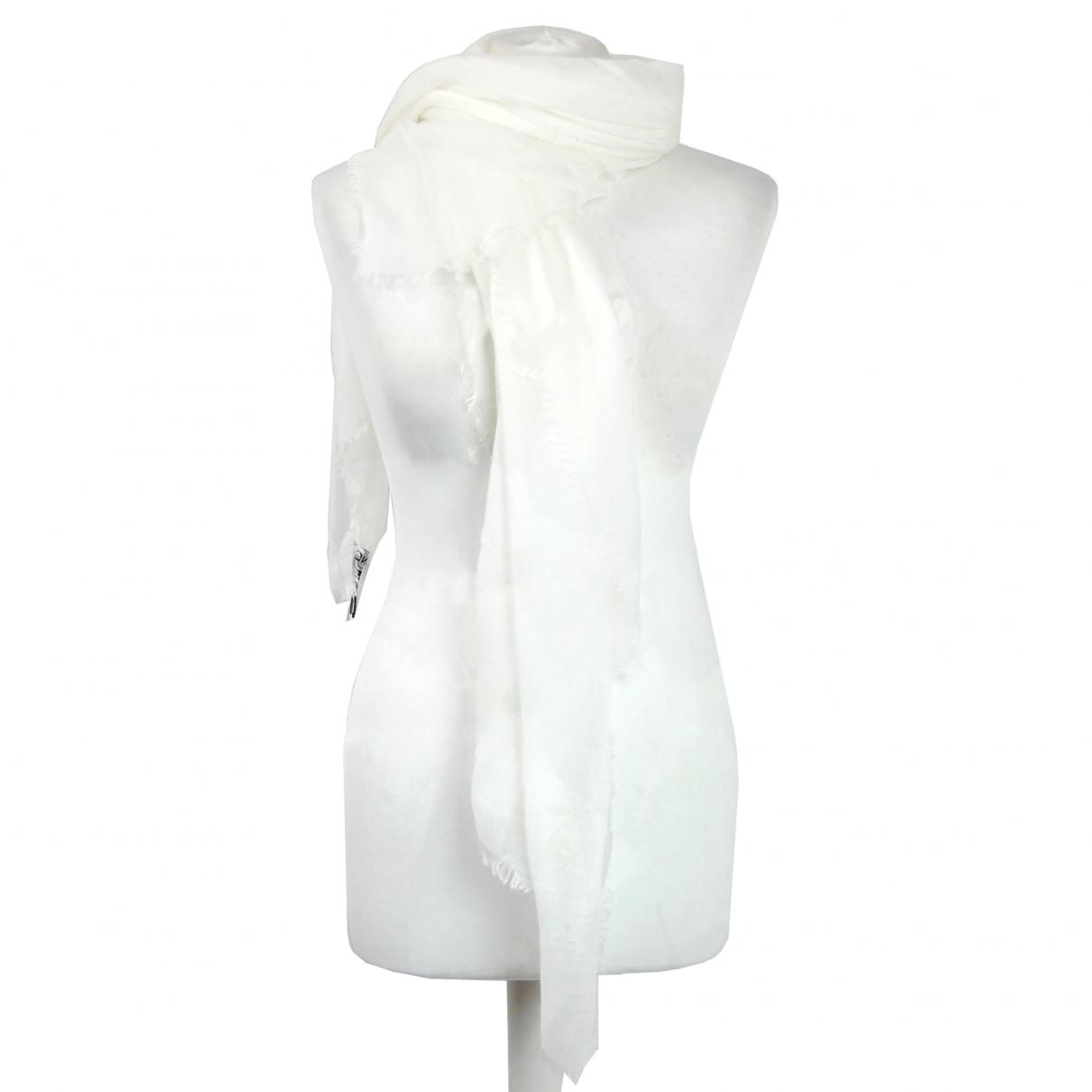 46d7b517a6d Chanel. Women s White Cashmere Scarves.  283 From Vestiaire Collective