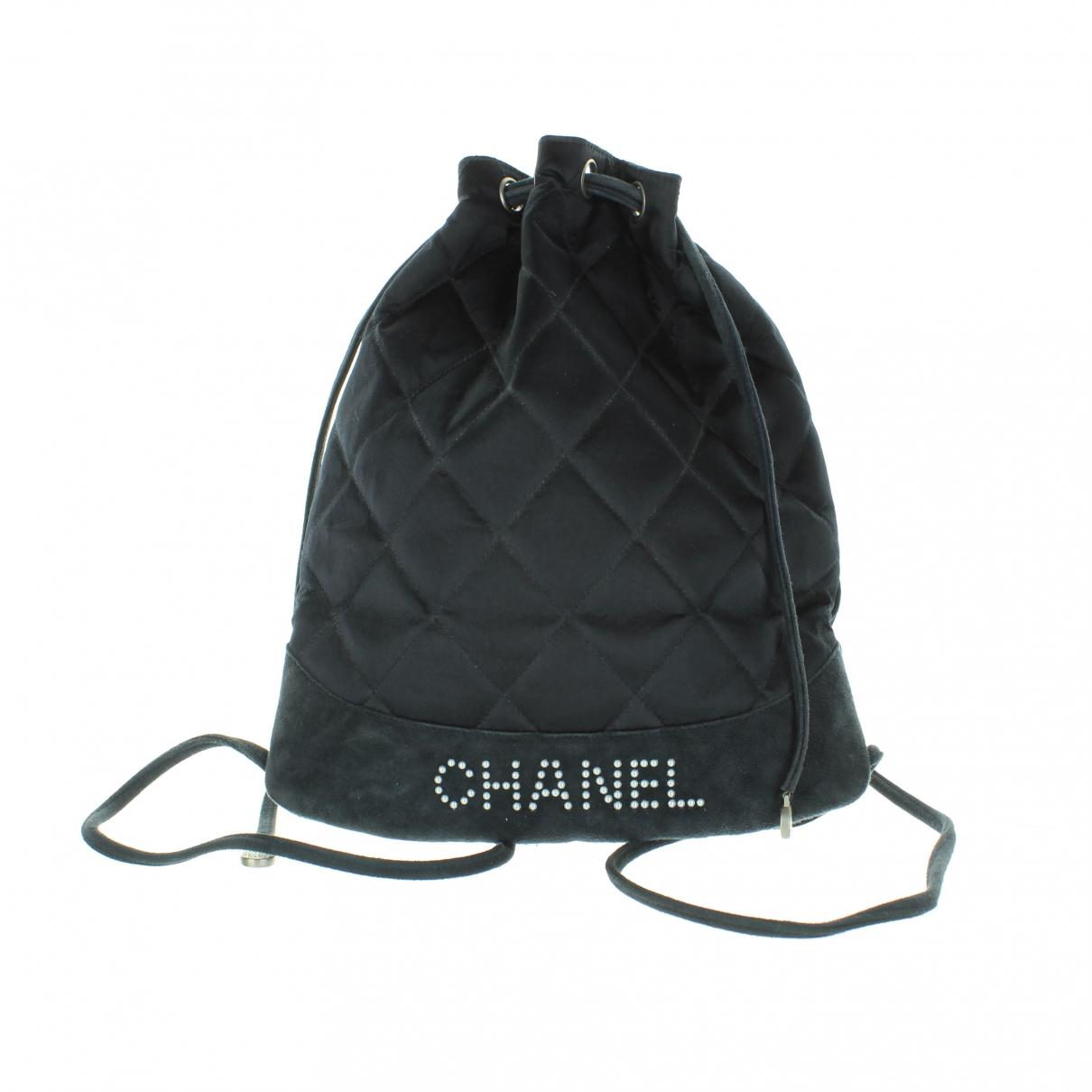 6cb93dc4f1fe Lyst - Chanel Navy Cloth Backpacks in Blue
