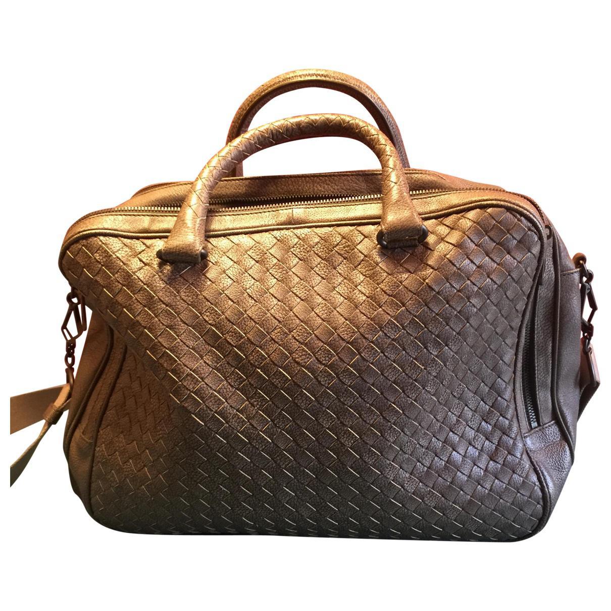 fb6bb53c6d30 Bottega Veneta. Women s Brown Leather Weekend Bag.  2