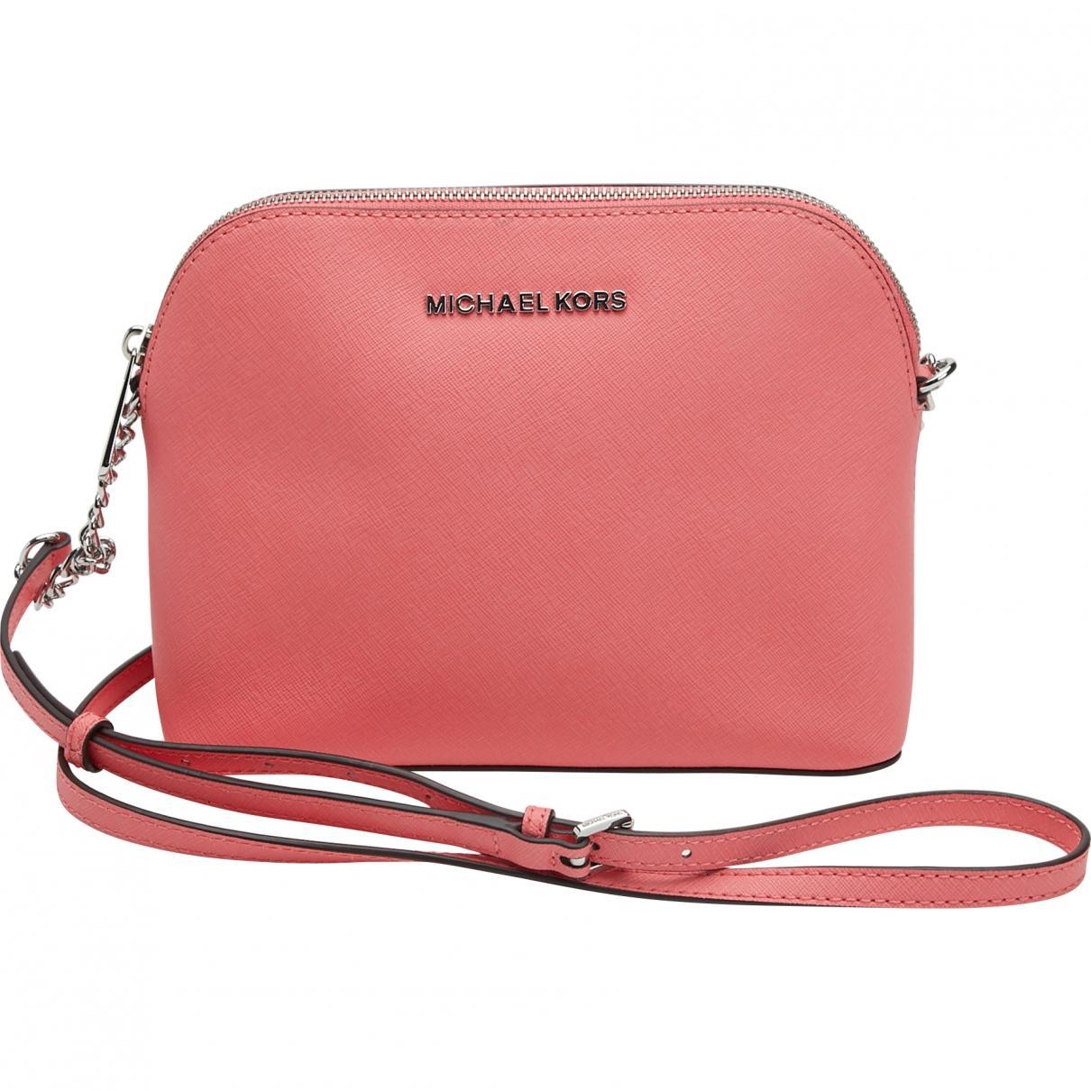 d1e4ed17317f Michael Kors Pink Leather Handbag in Pink - Lyst