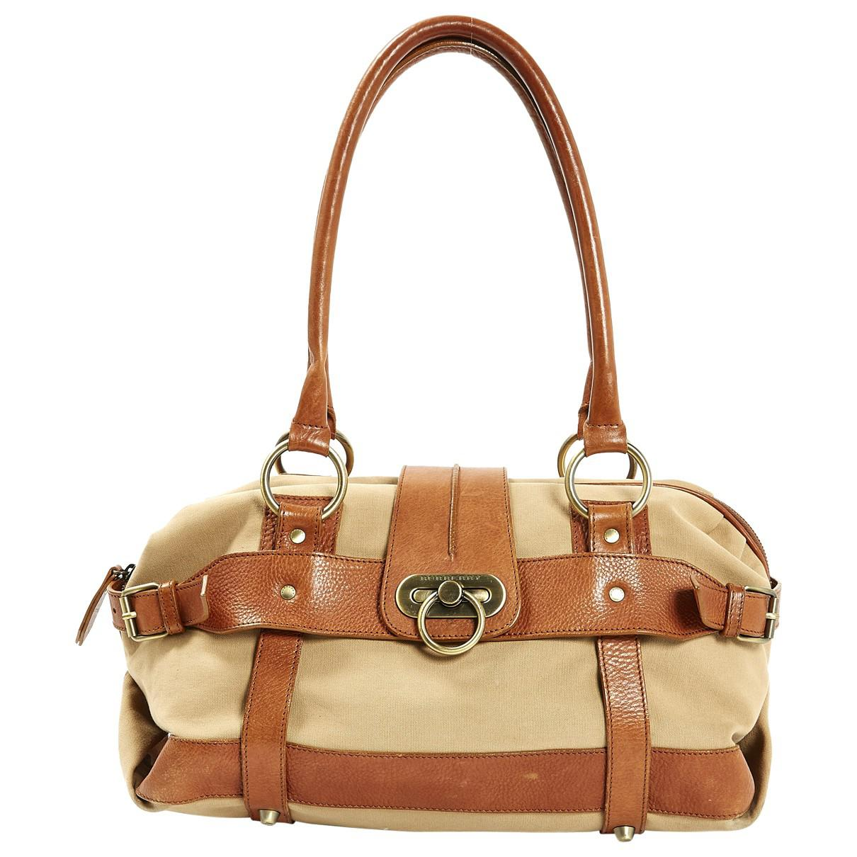 Burberry Women S Natural Pre Owned Cloth Handbag