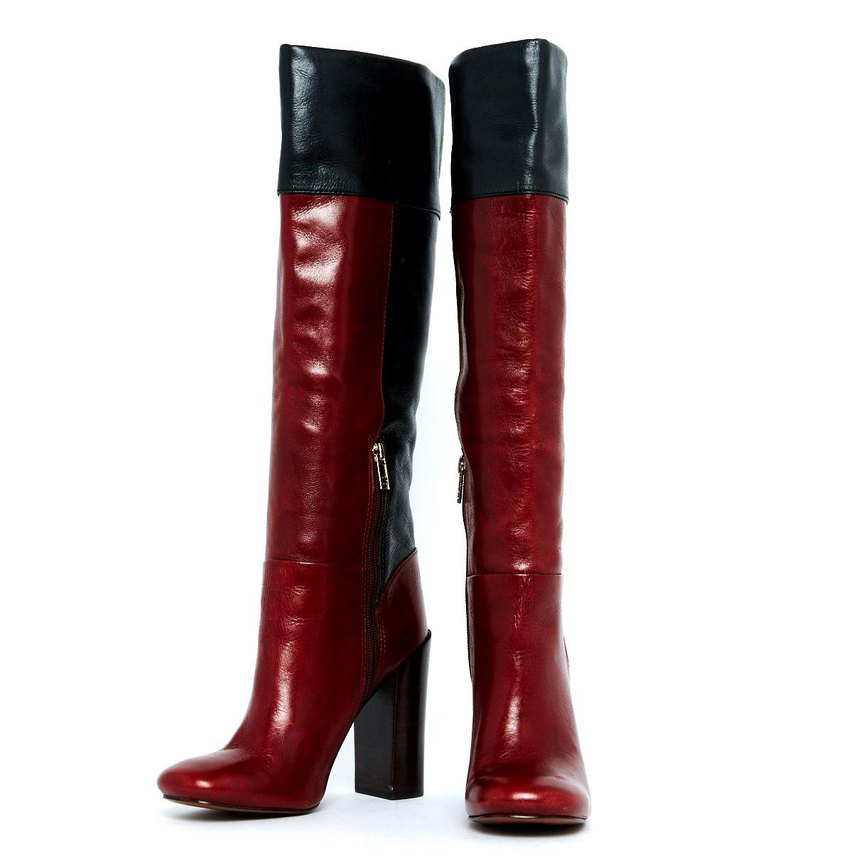 8796f6116 Tory Burch - Red Leather Boots - Lyst. View fullscreen