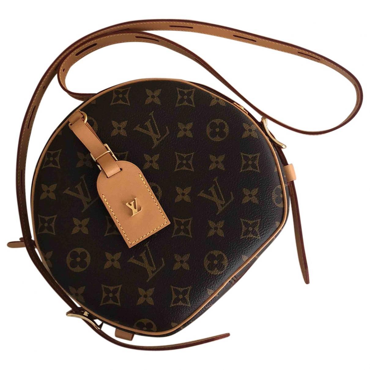 plus grand choix marques reconnues liquidation à chaud Sac bandoulière Boîte chapeau souple en toile Louis Vuitton en coloris Black
