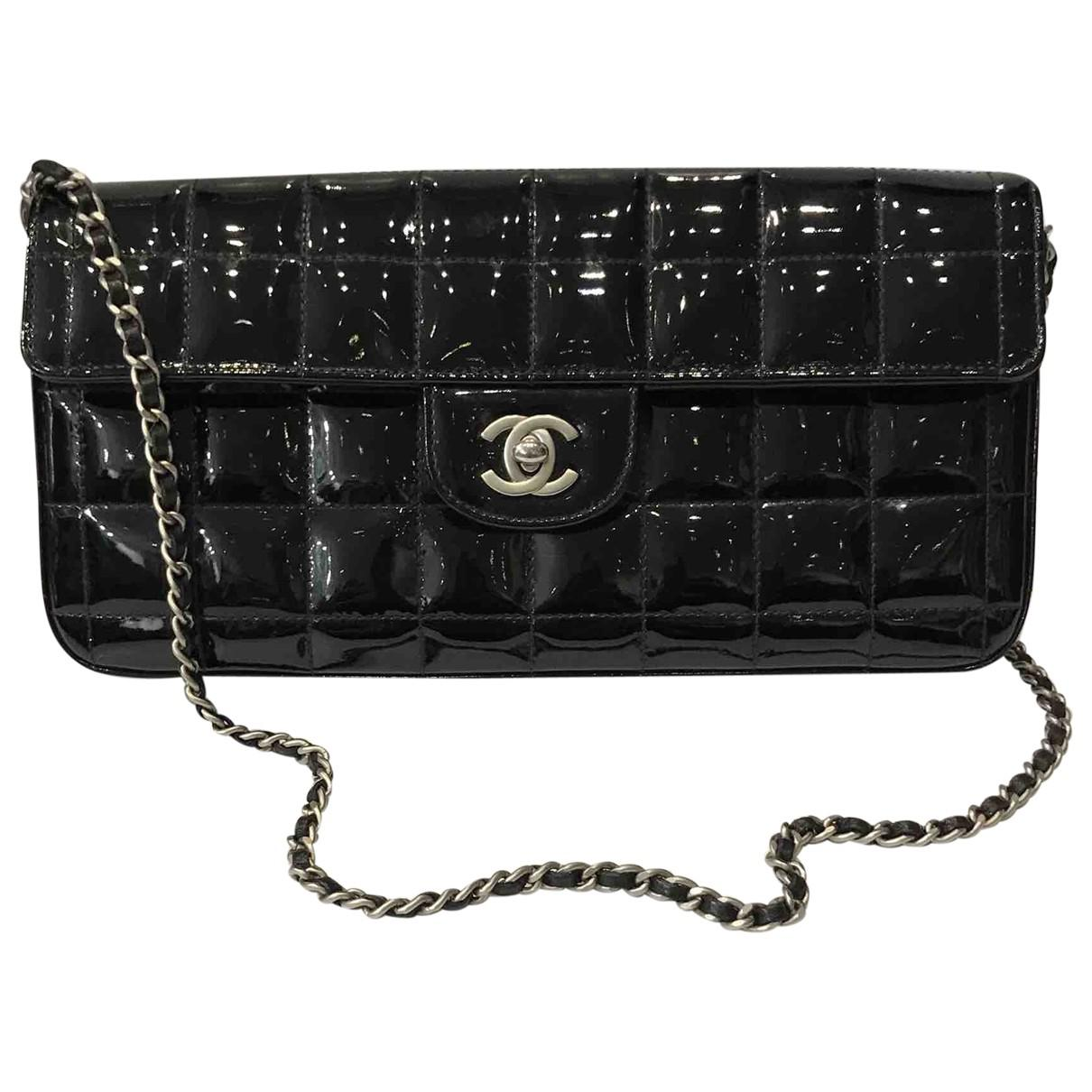 dd97ce1689af Lyst - Chanel Pre-owned East West Chocolate Bar Patent Leather ...