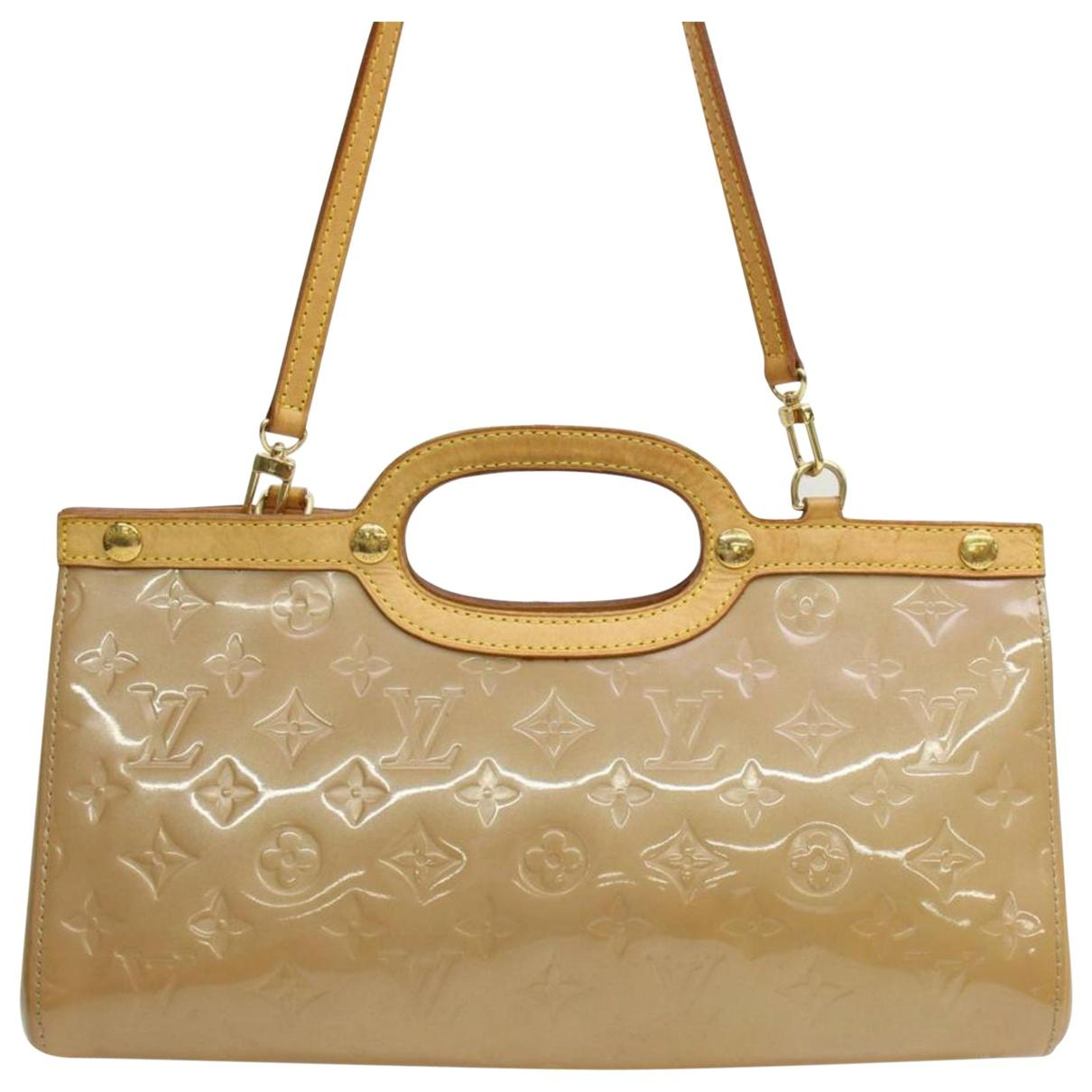 Louis Vuitton Women S Natural Pre Owned Roxbury Patent Leather Handbag