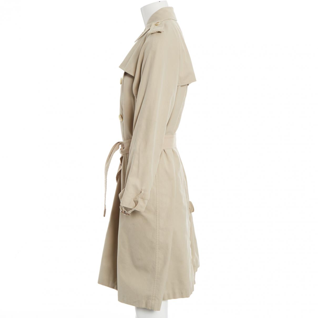 f897b371f451 Lyst - Burberry Pre-owned Trench Coat in Natural