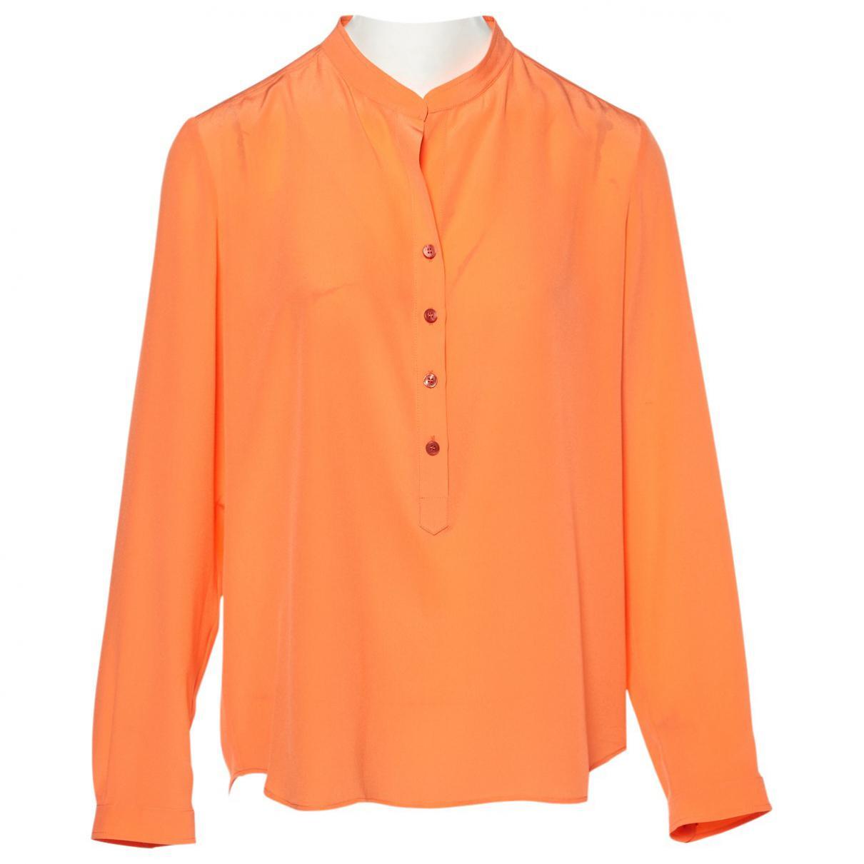 e03a9055f308c Lyst - Stella McCartney Pre-owned Silk Blouse in Orange