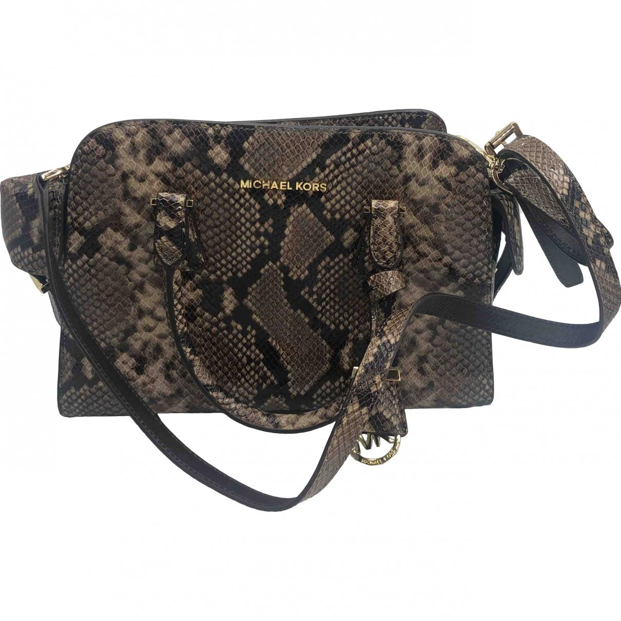 c3100e30a445 Michael Kors - Multicolor Python Crossbody Bag - Lyst. View fullscreen