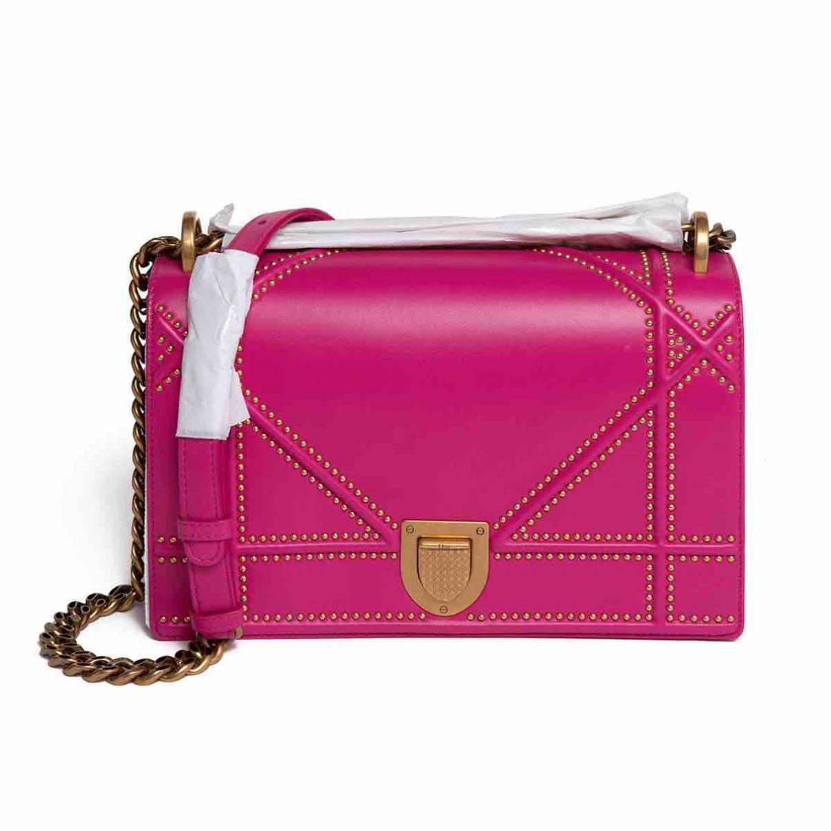 27453c35bb29 Lyst dior ama leather crossbody bag in pink jpg 1210x1210 Dior cross body  bag