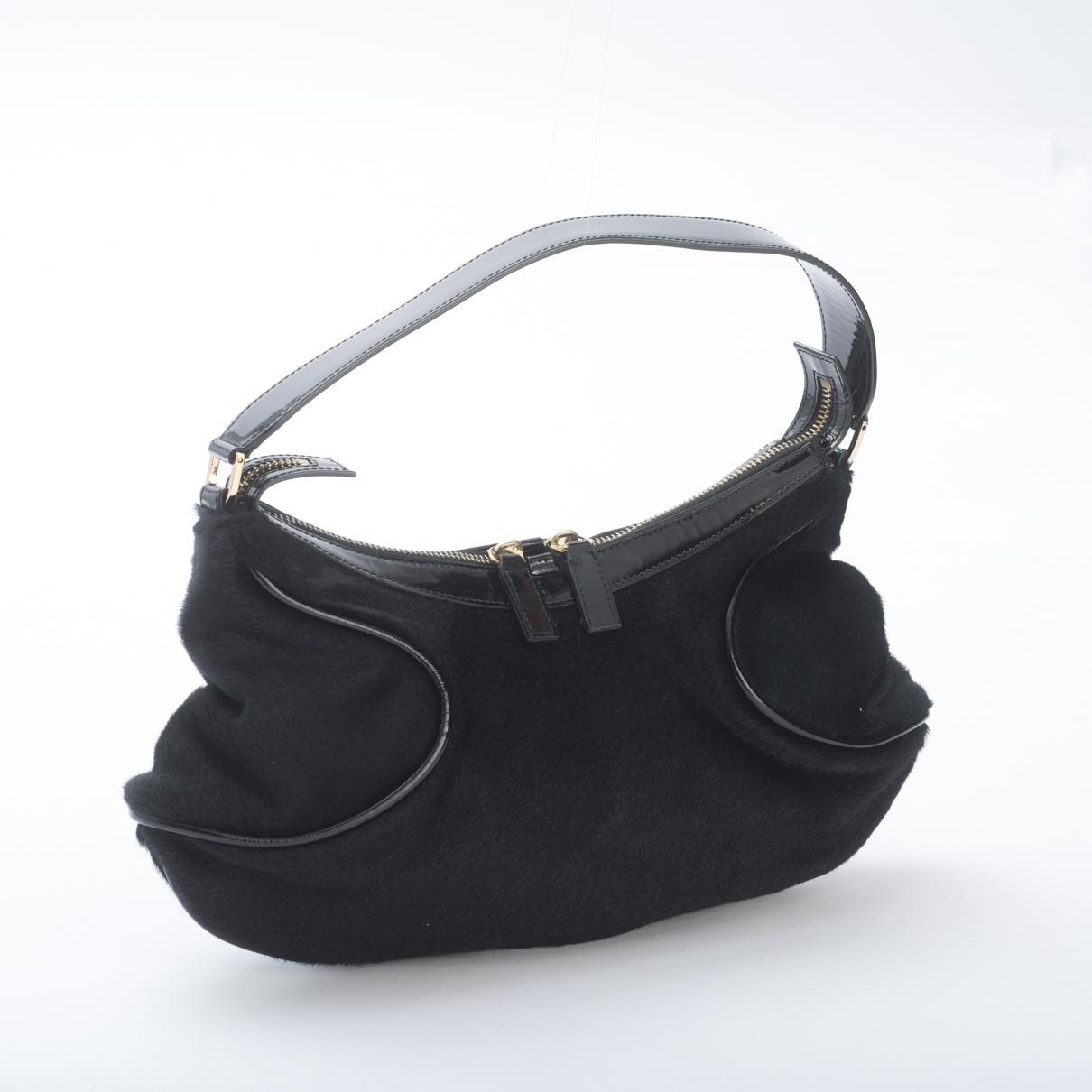 d2fb714a86d6 Versace - Black Pony-style Calfskin Handbag - Lyst. View fullscreen