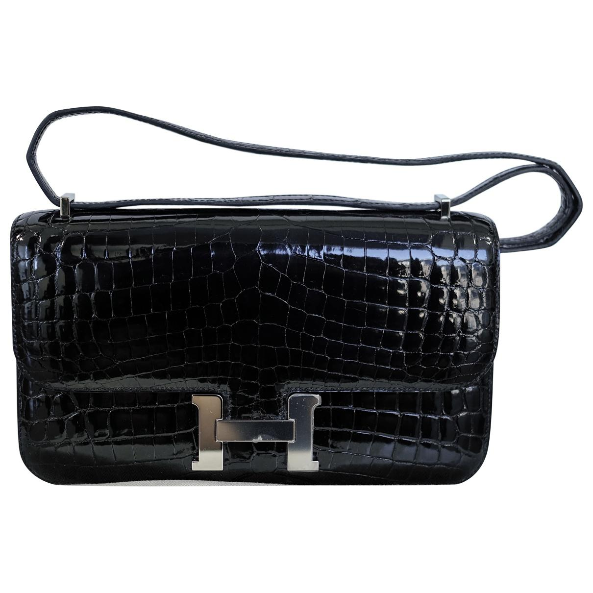 7cfc8b295f63 ... wholesale hermès. womens black constance elan crocodile handbag 8afb6  7c3f5