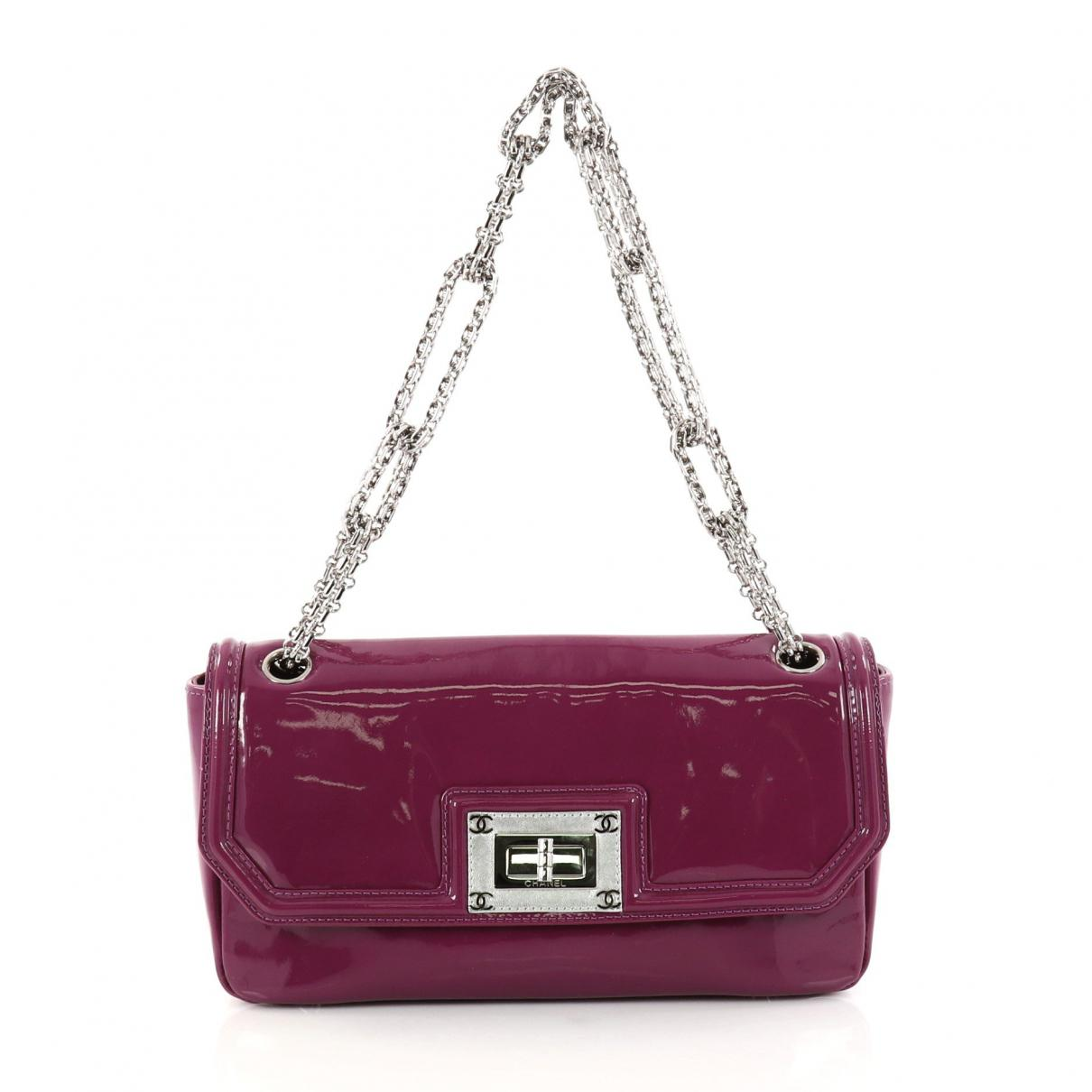 Lyst - Chanel Purple Leather Handbag in Purple 7a20eb3f25