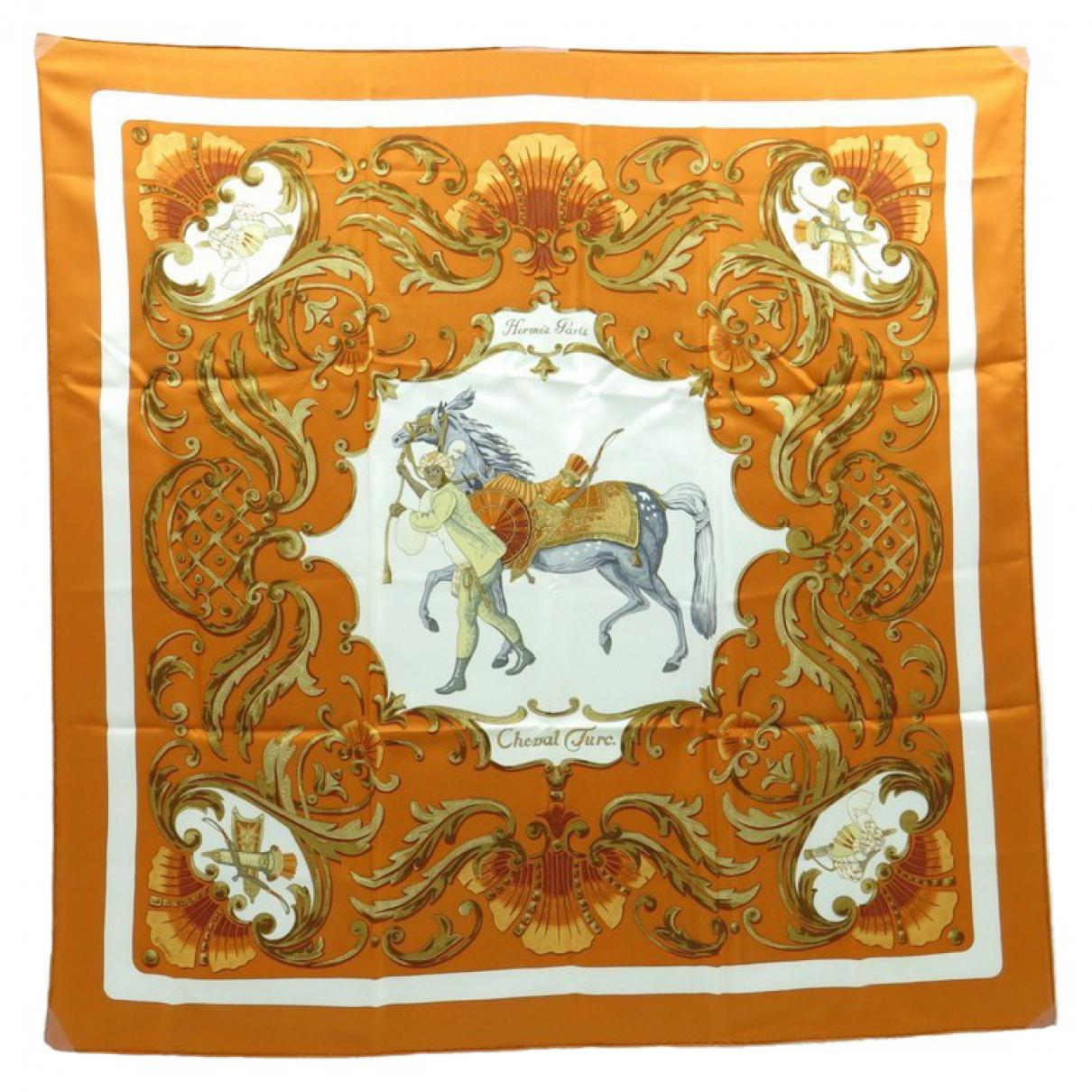 6d04b794499 Hermès. Women s Orange Carré Silk Neckerchief. £224 £166 From Vestiaire  Collective