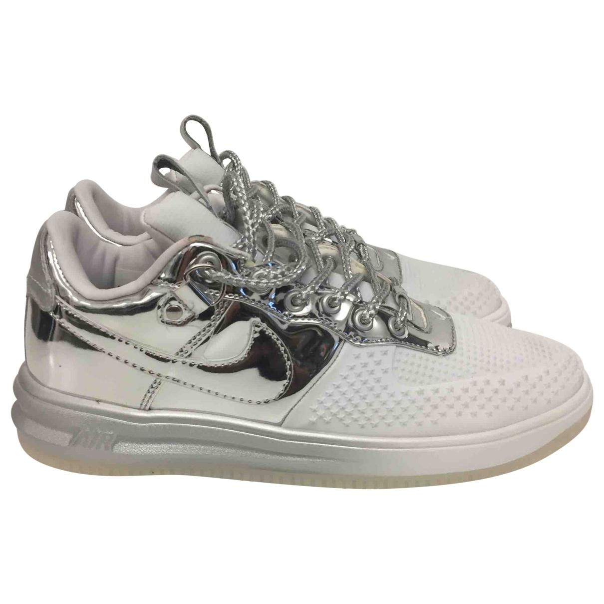 low priced ab239 f7f36 View fullscreen · Nike - Metallic Air Force 1 Silver Leather Trainers for  Men - Lyst