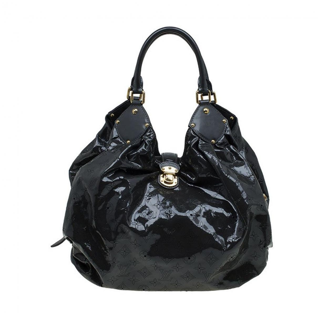 58dbfd863061 Lyst - Louis Vuitton Pre-owned Mahina Patent Leather Bag in Gray