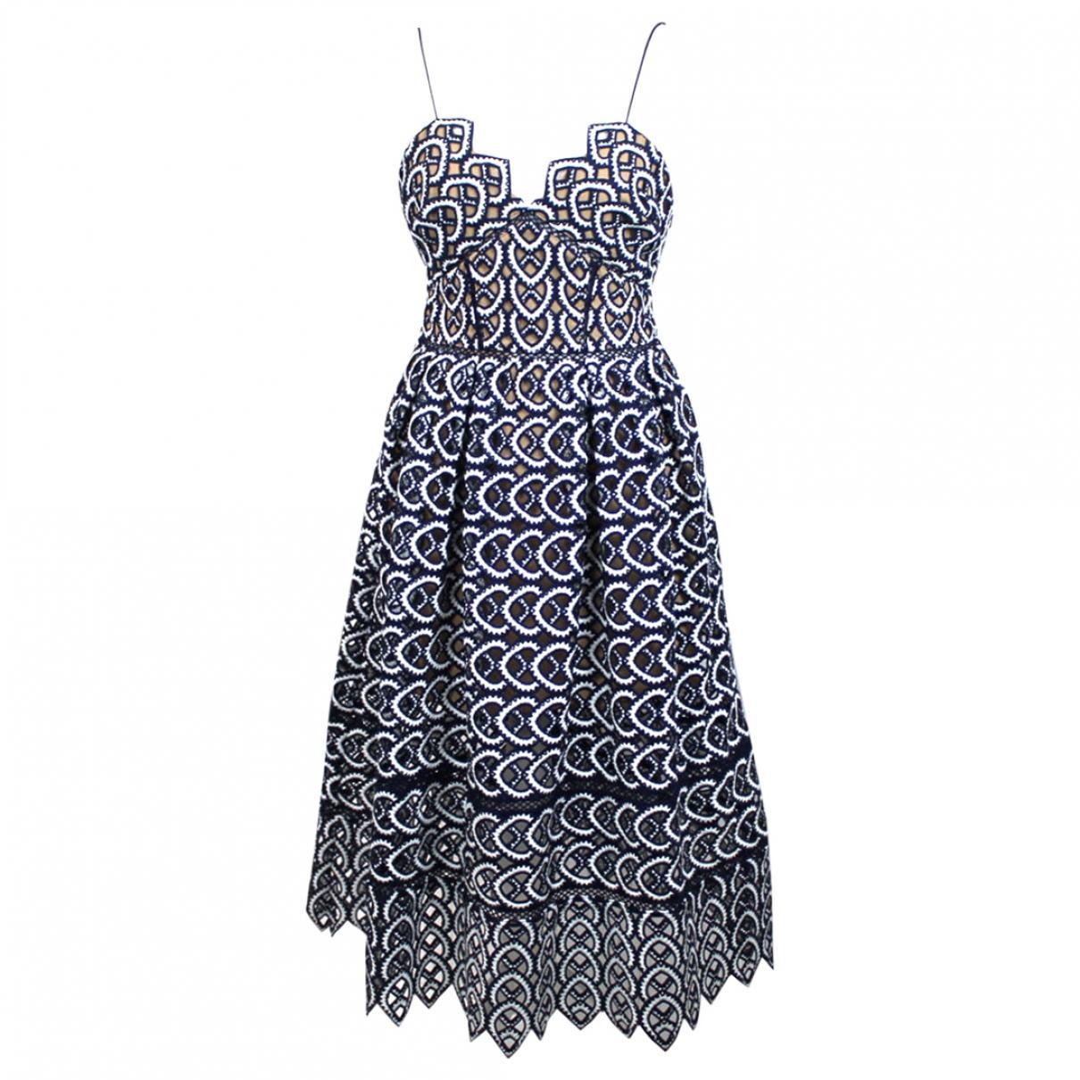 515746597174 Lyst - Self-Portrait Maxi Dress in Blue