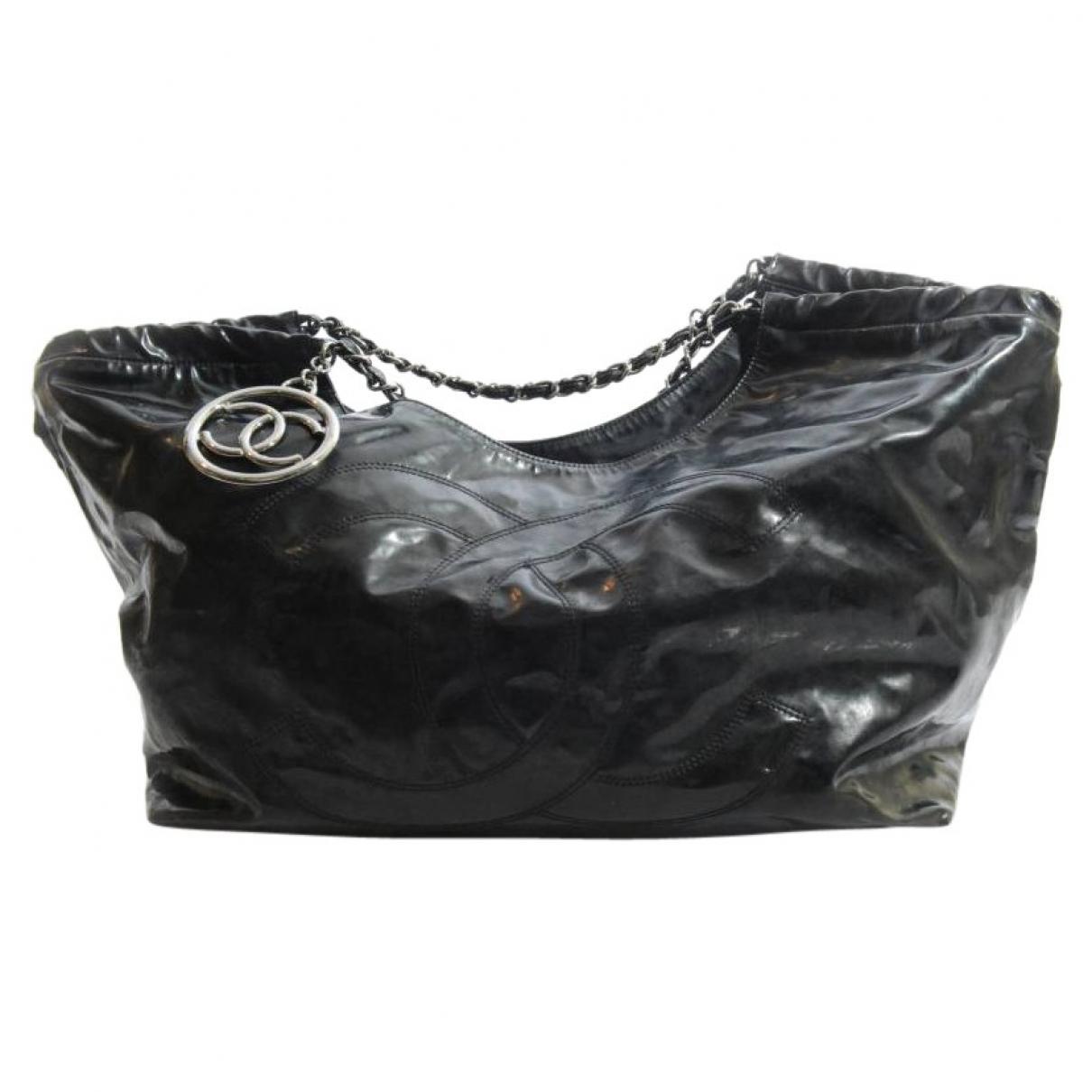 54822dd7d546 Chanel Coco Cocoon Tote 336541 Coco Chanel Handbag Black: Chanel Coco Cabas  Black Plastic Handbag In Black