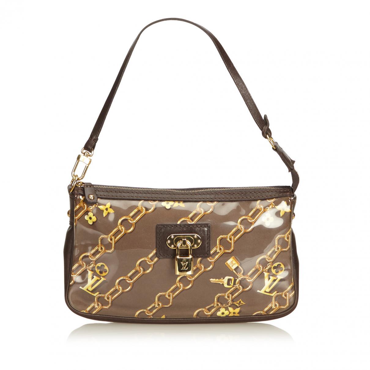 bc7f58ffd6a8 Lyst louis vuitton vintage brown plastic handbag in brown jpg 1210x1210 Louis  vuitton plastic purse