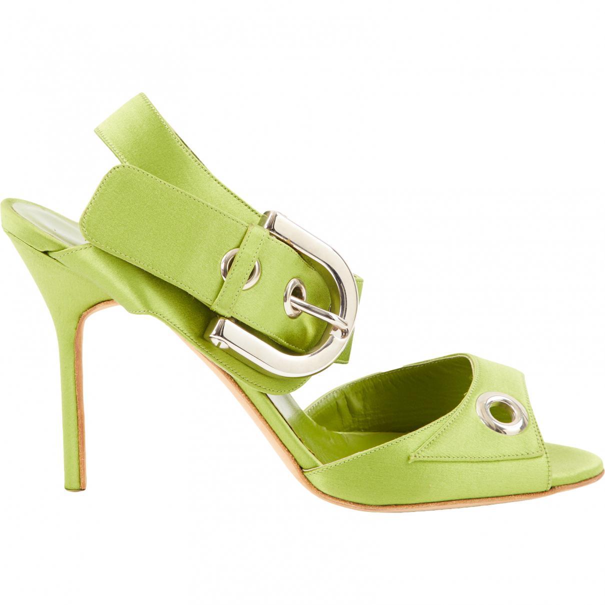 Pre-owned - Cloth sandal Manolo Blahnik bwMzhZac
