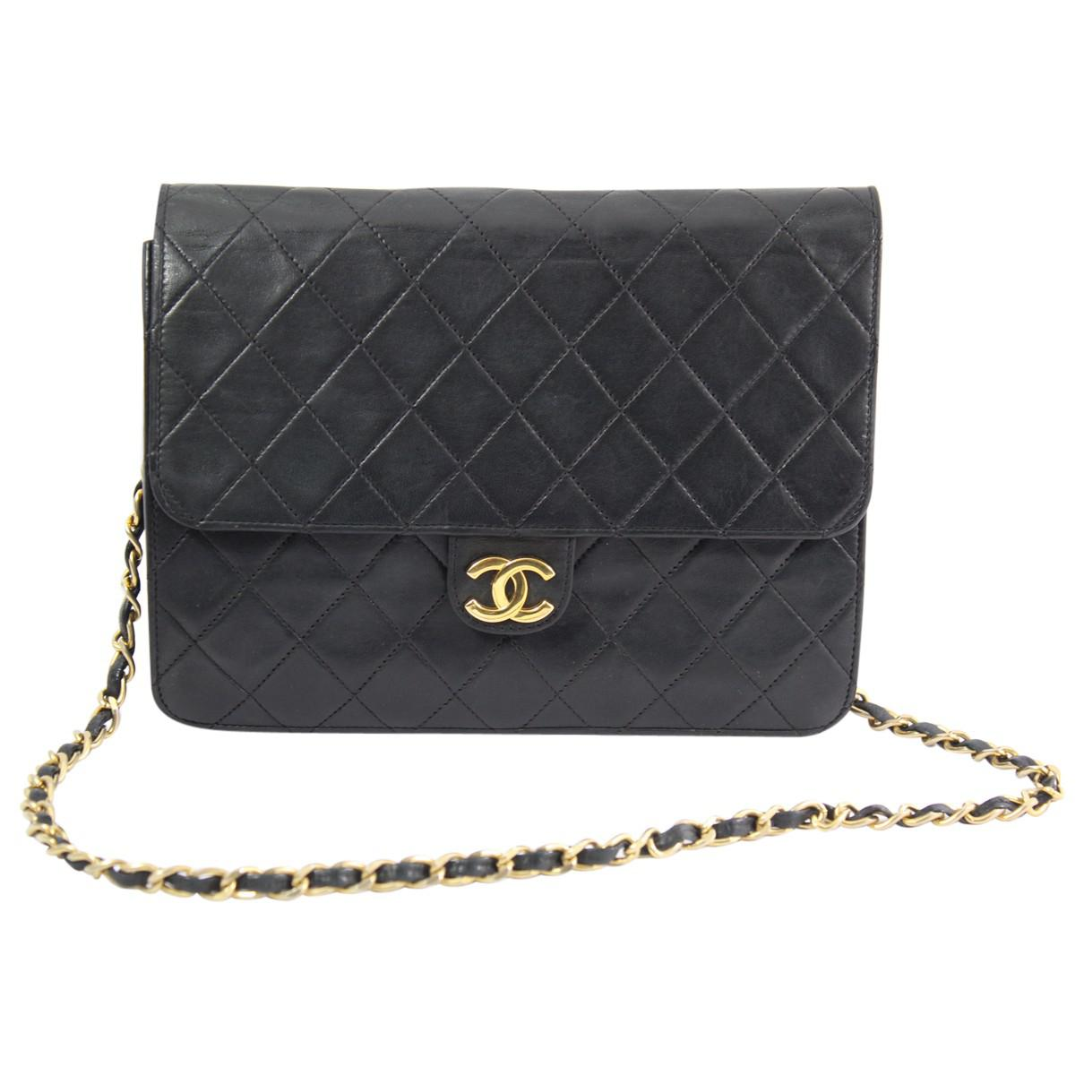 d5105af068ff50 Lyst - Chanel Pre-owned Wallet On Chain Leather Handbag in Black