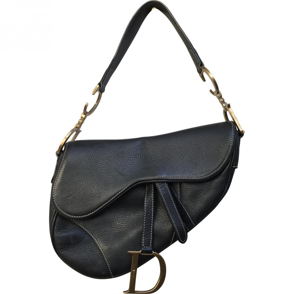 Dior. Women s Vintage Saddle Black Leather Handbag. £880 From Vestiaire  Collective 5f23c5b11b89d