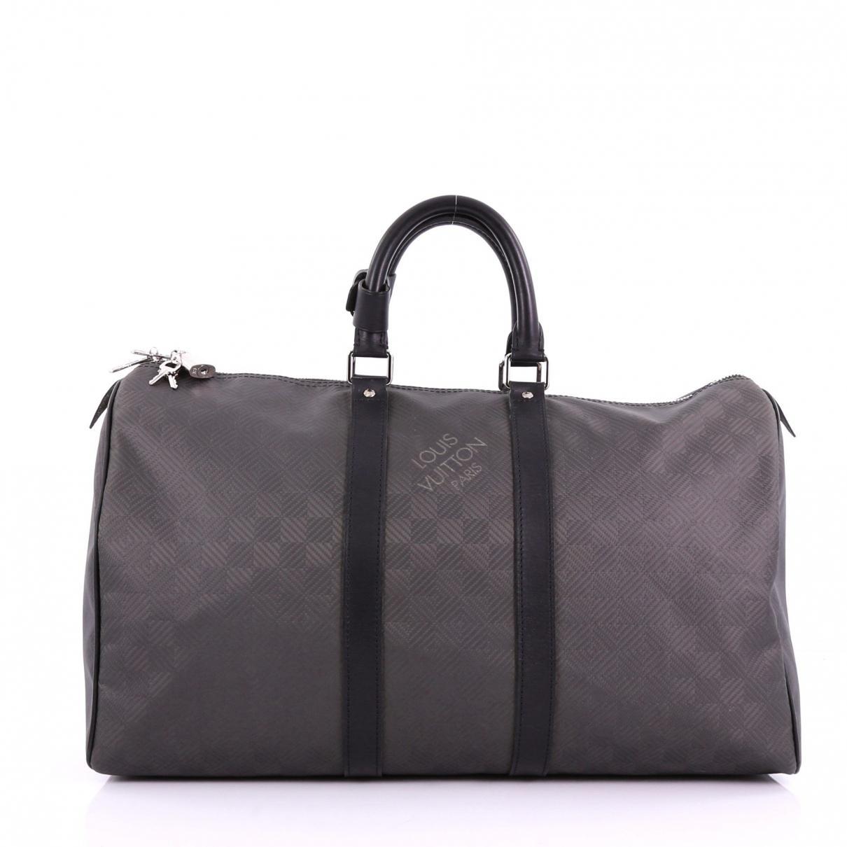 Lyst - Louis Vuitton Keepall Cloth Travel Bag in Gray for Men db0301447201b