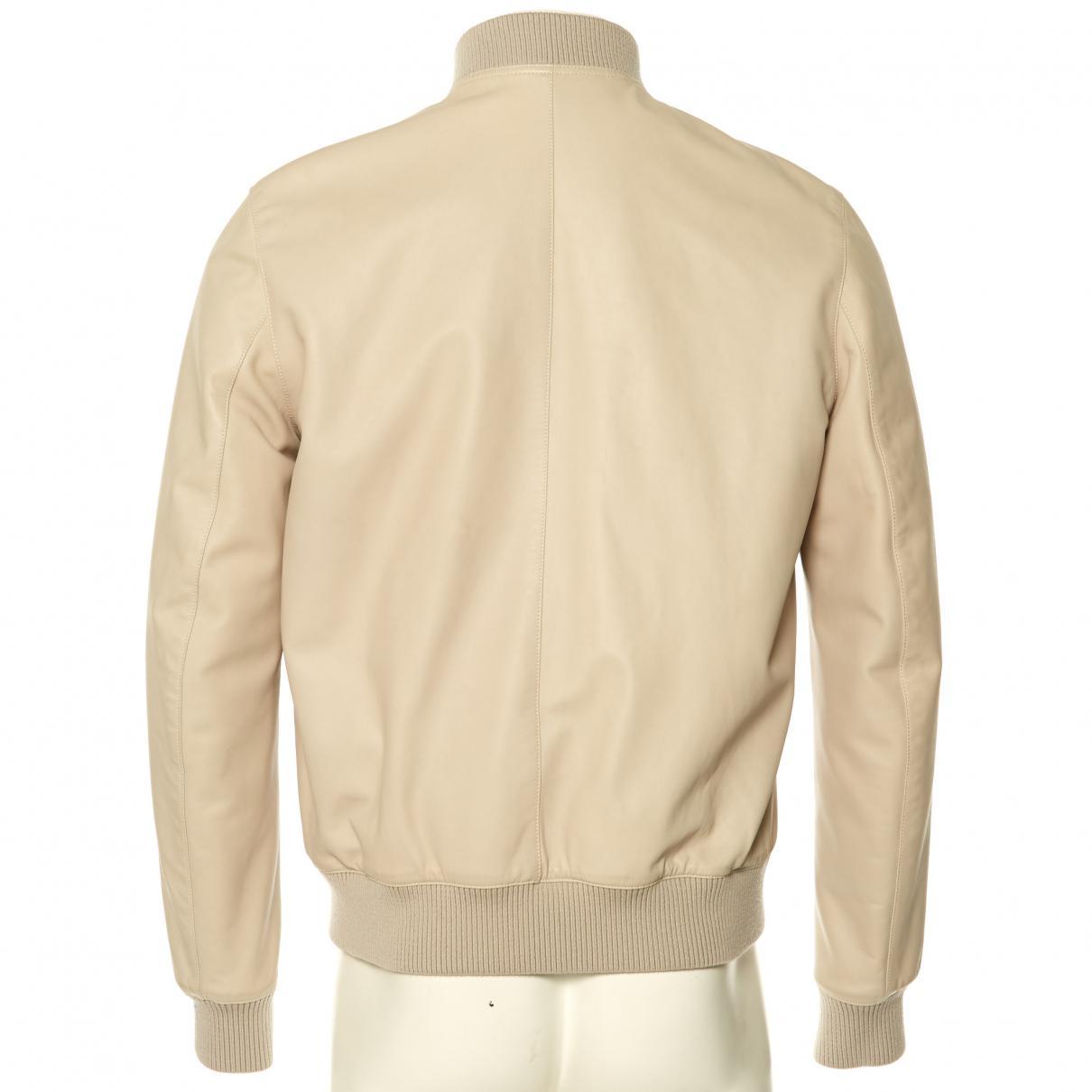 3eb780caf47 Hermès - Natural Blouson en cuir for Men - Lyst. Afficher en plein écran
