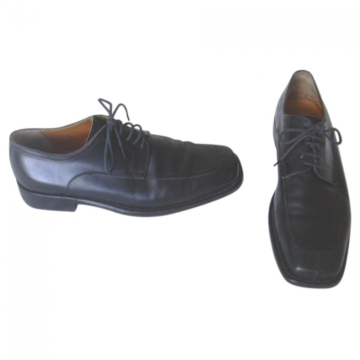 Pre-owned - Leather lace ups Herm icoRiv