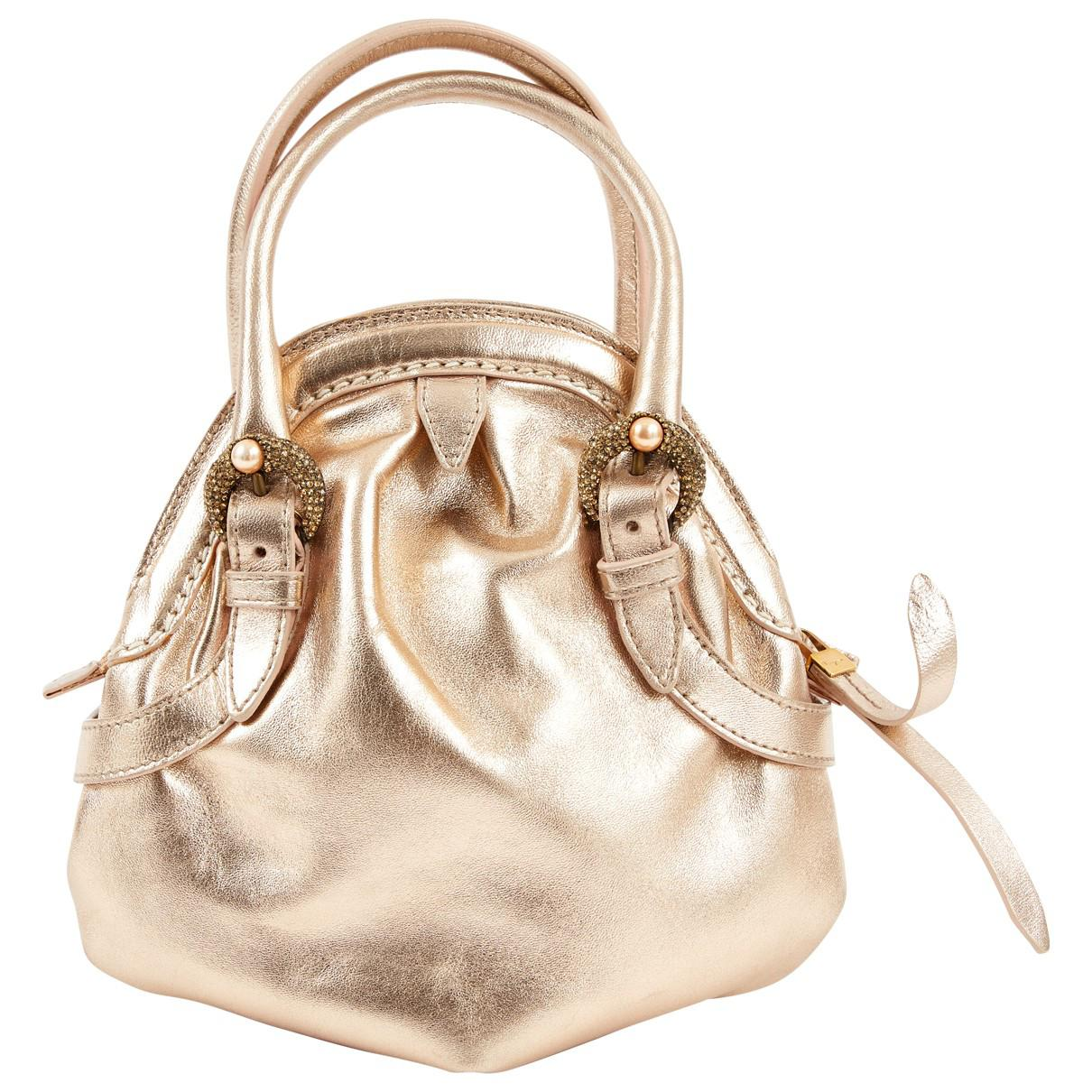 Lyst ferragamo pre owned gold leather handbags in metallic jpg 1210x1210  Silver and gold leather handbags 313c7fd60acca