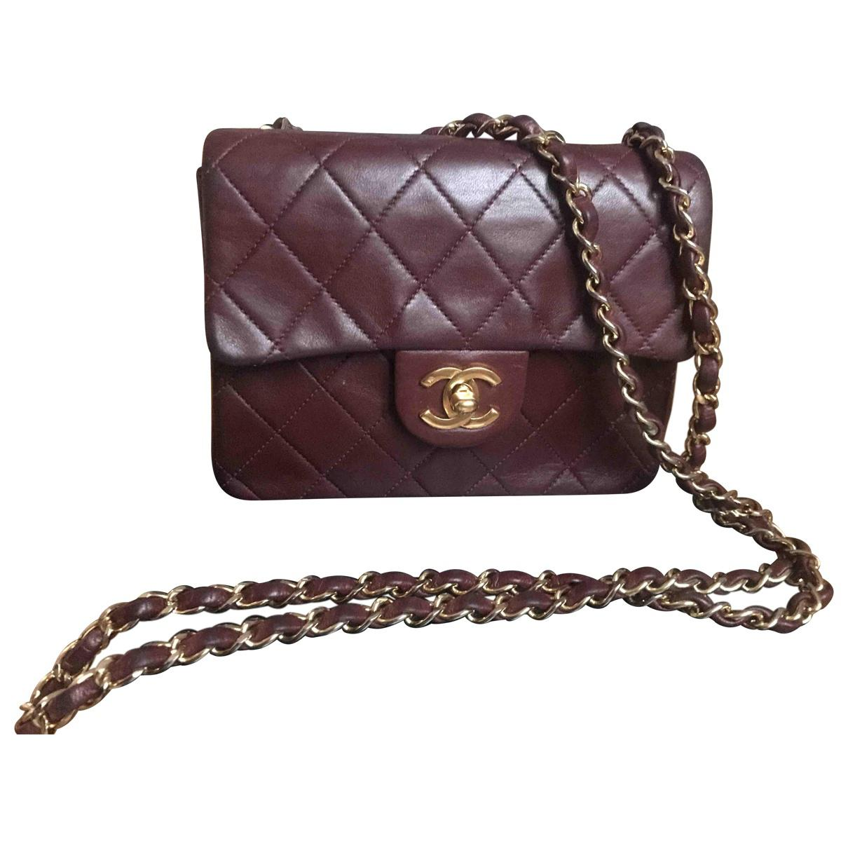56c1ab458cd81f Lyst - Chanel Pre-owned Vintage Timeless Burgundy Leather Handbags ...