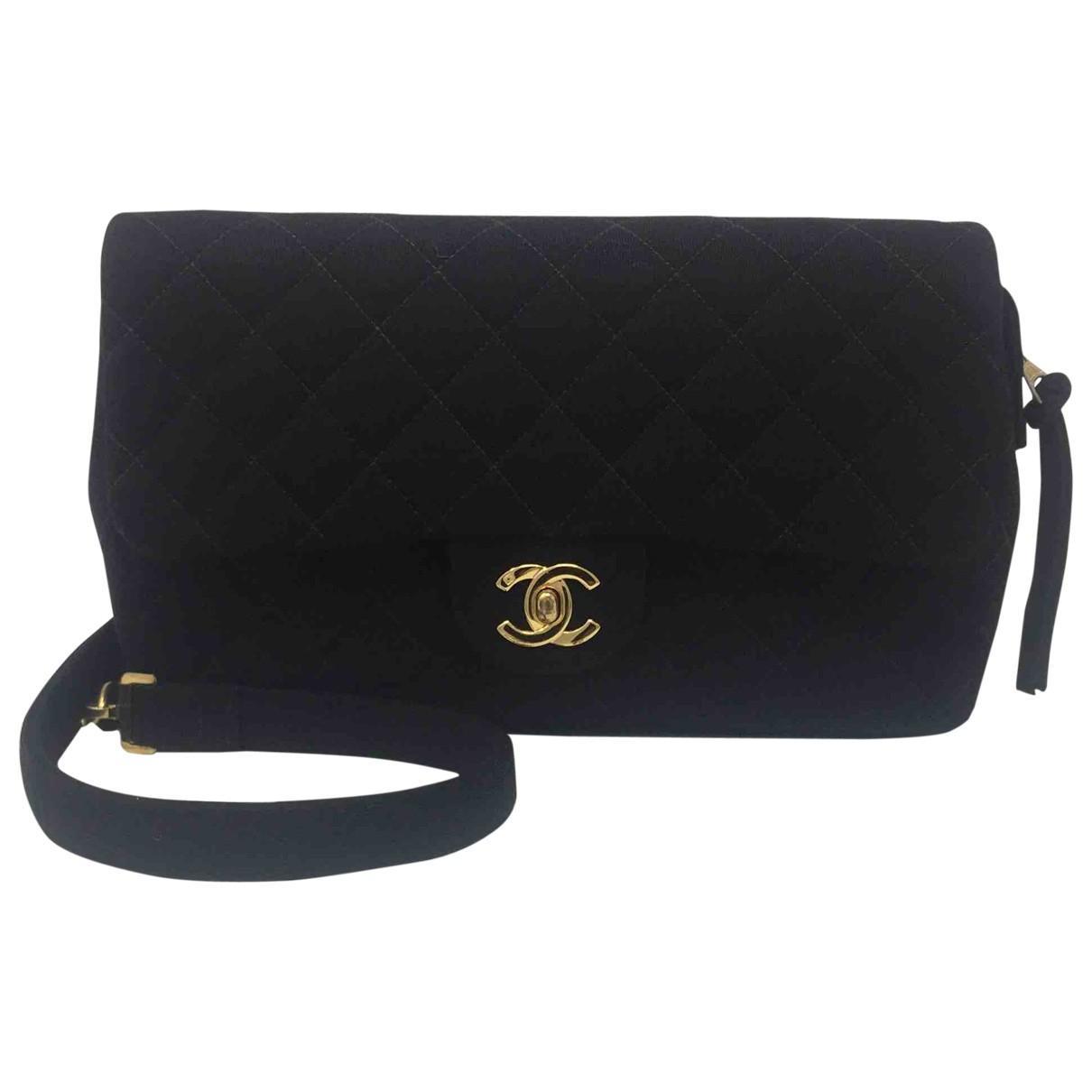 69c5605a12 Chanel Pre-owned Vintage Black Wool Backpacks in Black - Lyst