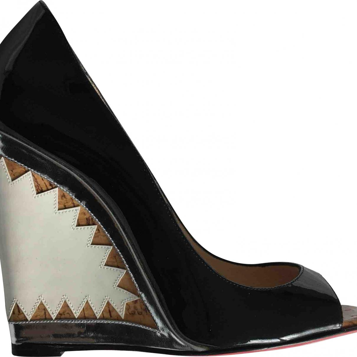 3bafc6daaaf Lyst - Christian Louboutin Patent Leather Heels in Black