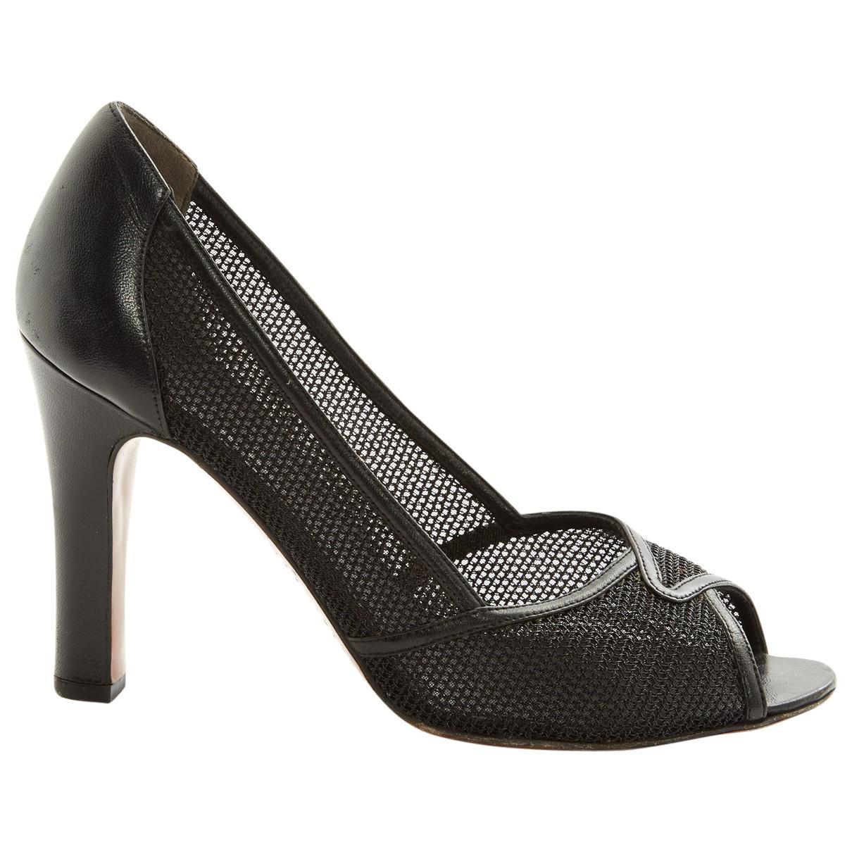 LOUIS VUITTON Grey / Leather Heels efHde4O2