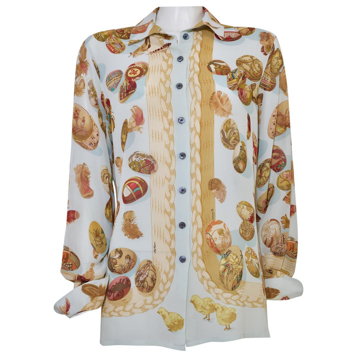 eadacdf3b59 Hermès Silk Blouse - Lyst