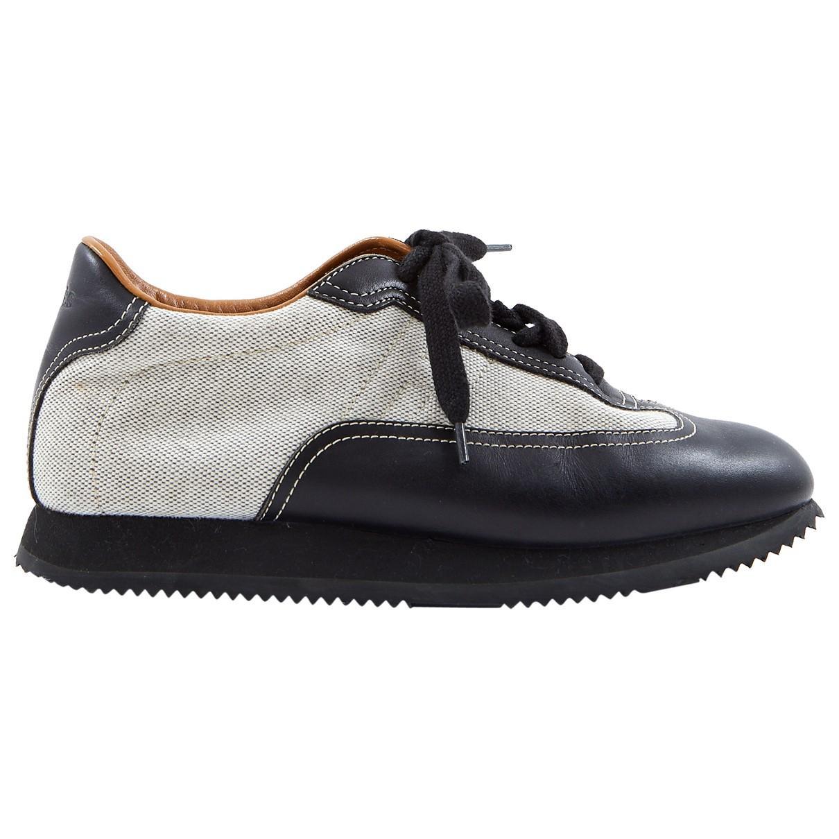 31cbfc1867bc Lyst - Hermès Multicolour Cloth Trainers in Black